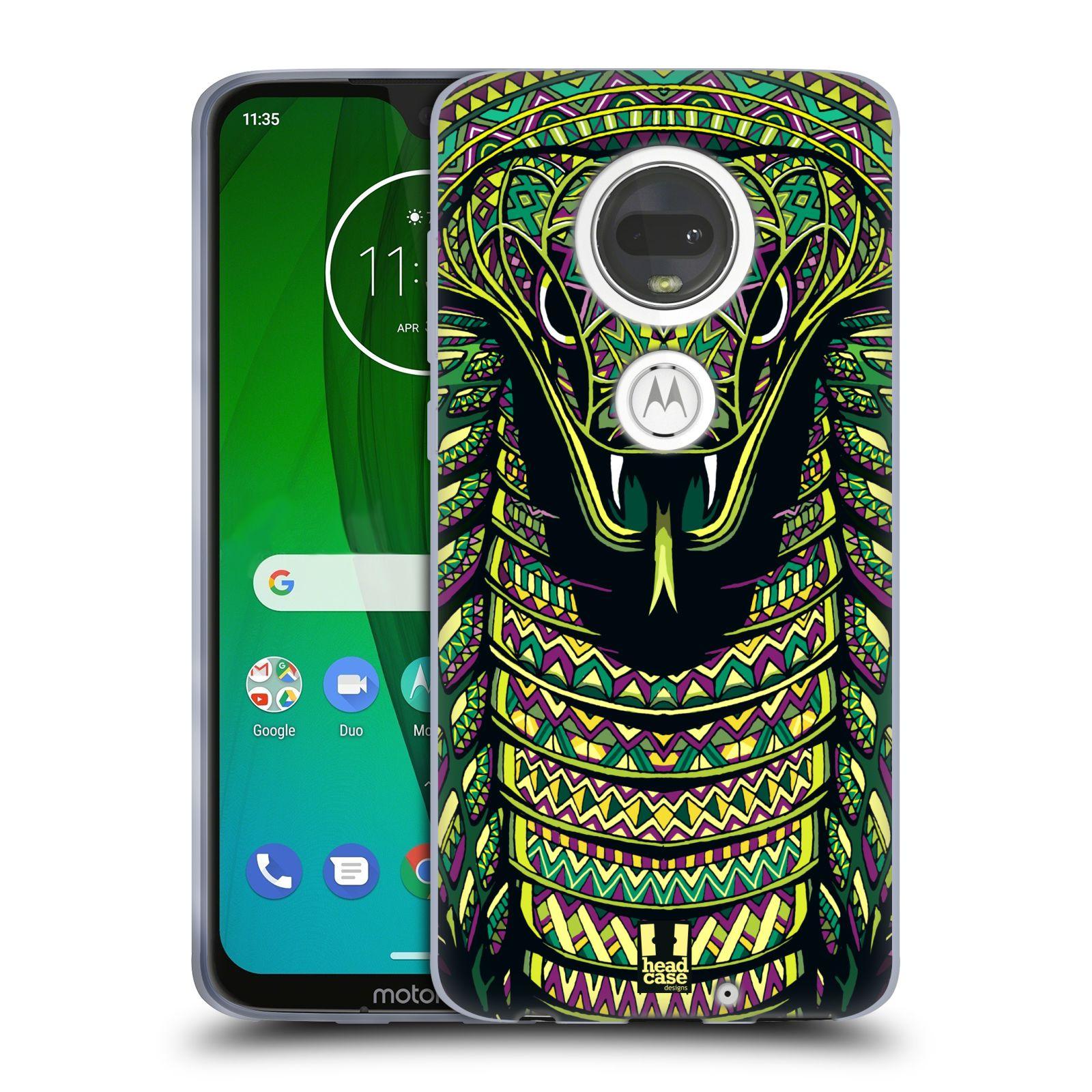 Silikonové pouzdro na mobil Motorola Moto G7 - Head Case - AZTEC HAD