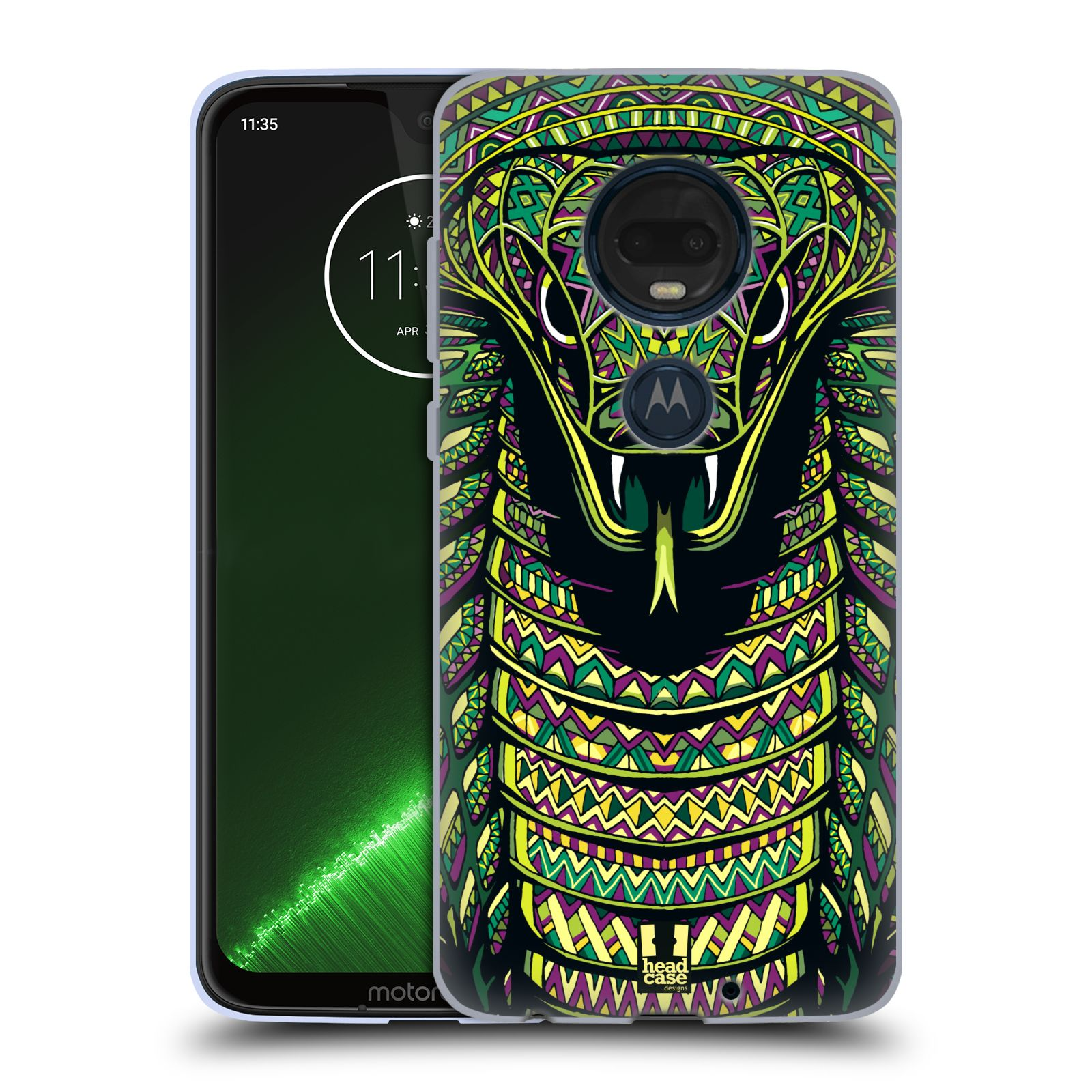Silikonové pouzdro na mobil Motorola Moto G7 Plus - Head Case - AZTEC HAD