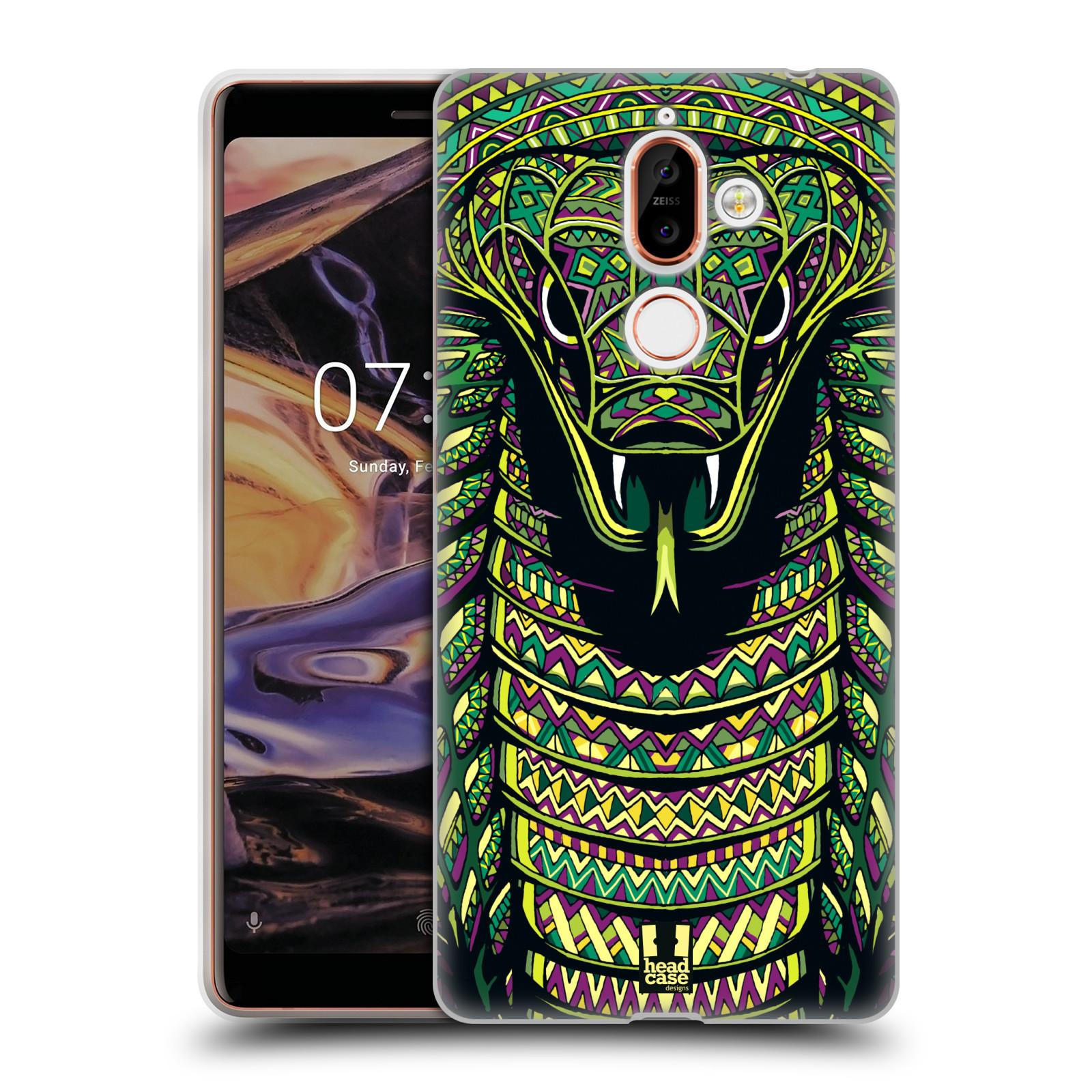 Silikonové pouzdro na mobil Nokia 7 Plus - Head Case - AZTEC HAD