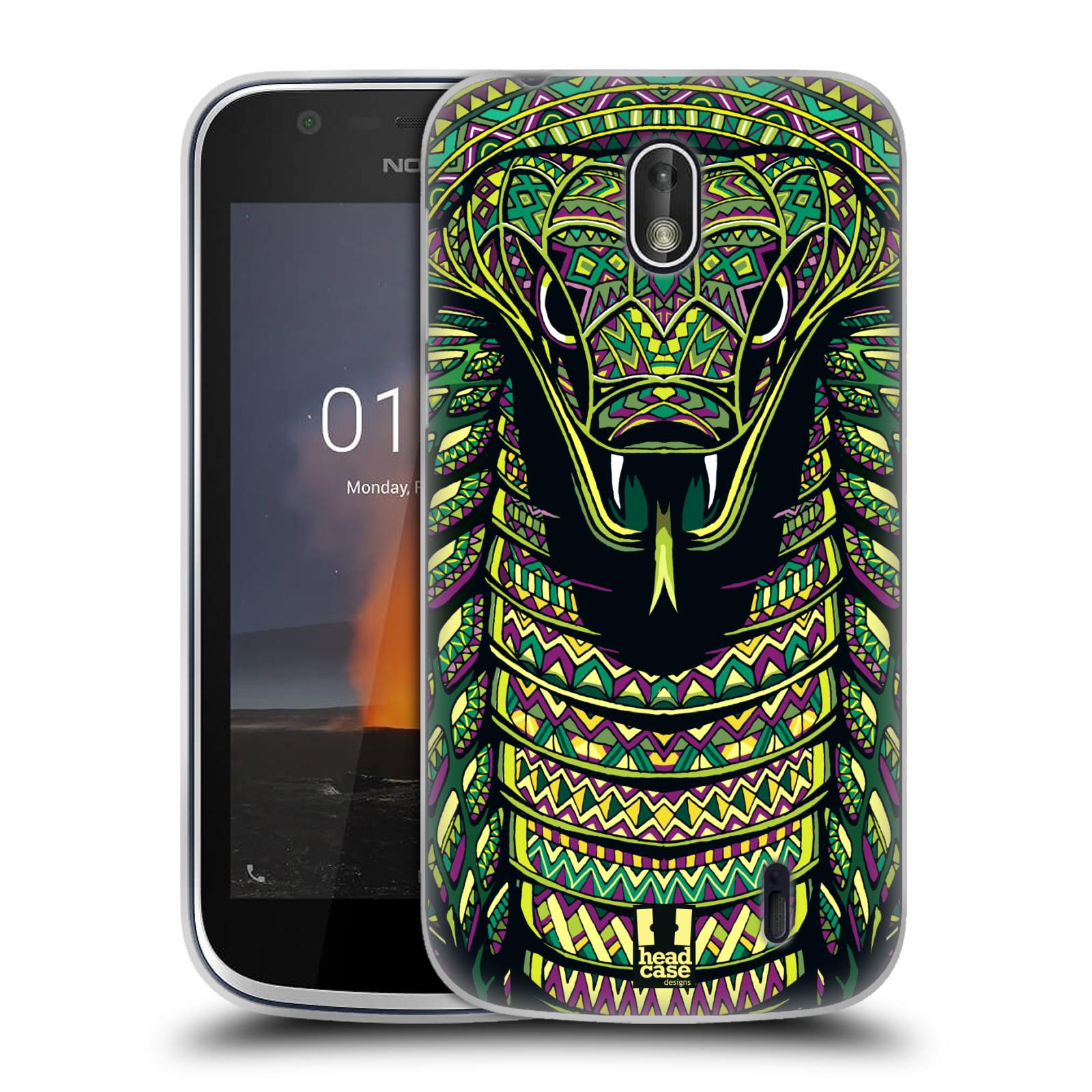 Silikonové pouzdro na mobil Nokia 1 - Head Case - AZTEC HAD