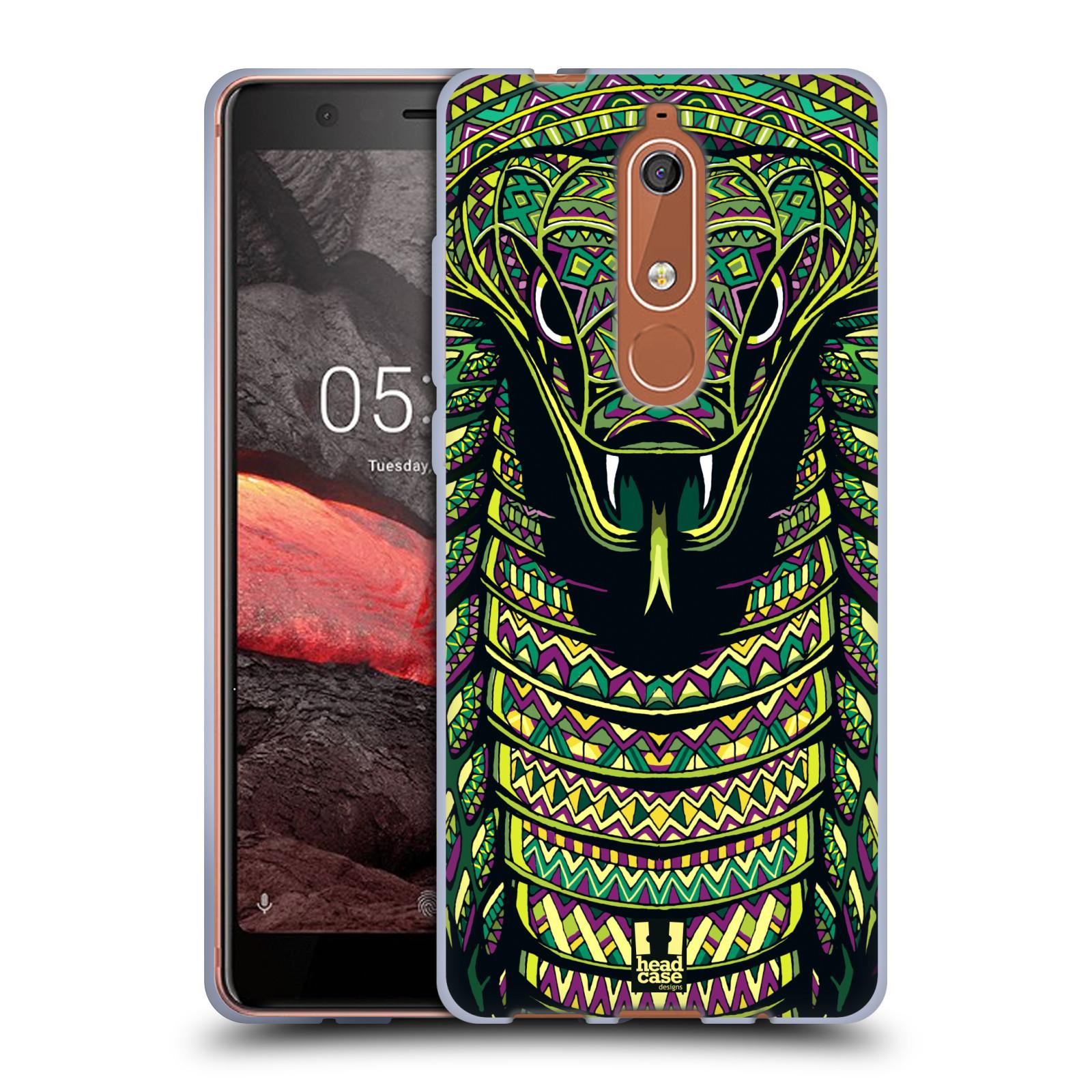 Silikonové pouzdro na mobil Nokia 5.1 - Head Case - AZTEC HAD