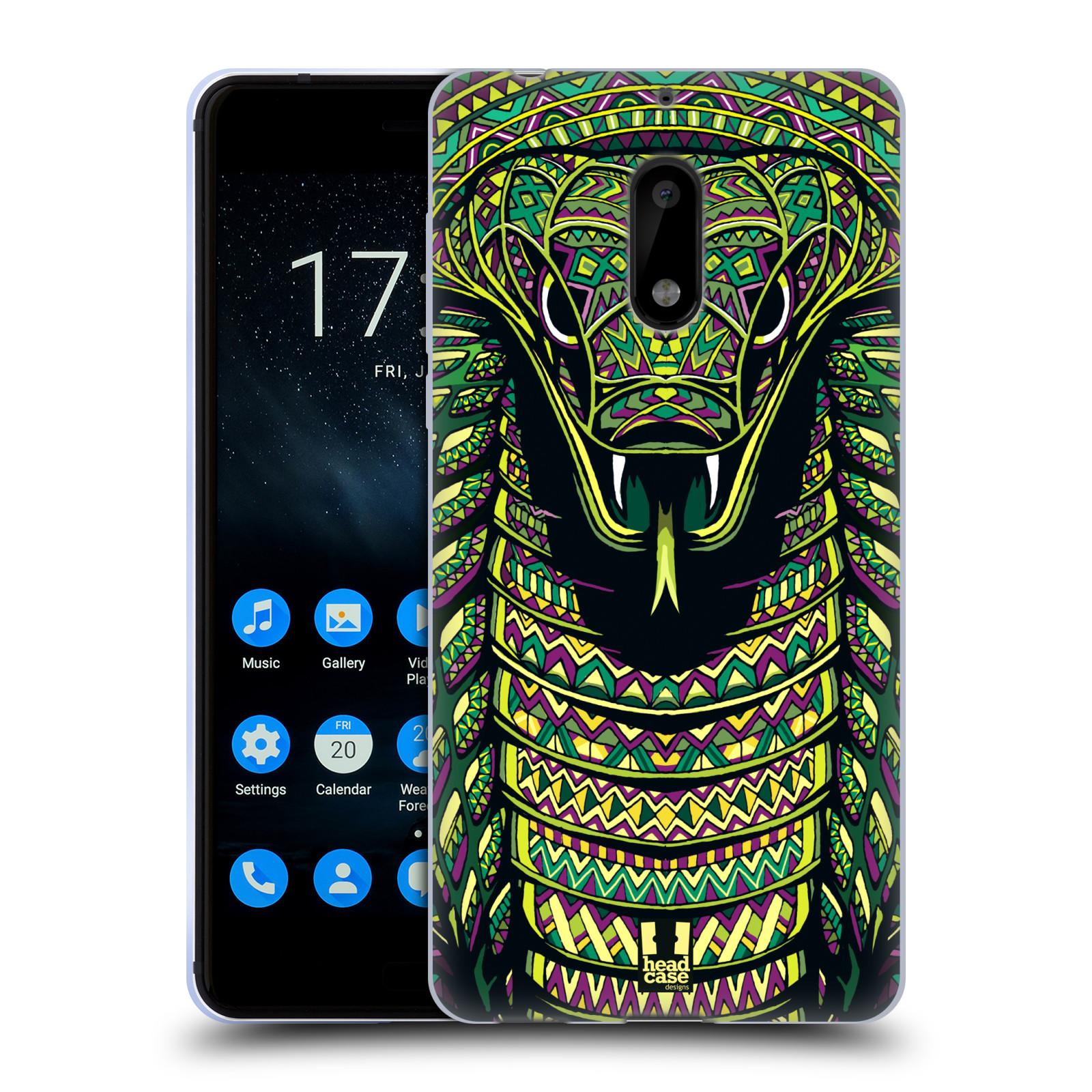 Silikonové pouzdro na mobil Nokia 6 - Head Case - AZTEC HAD