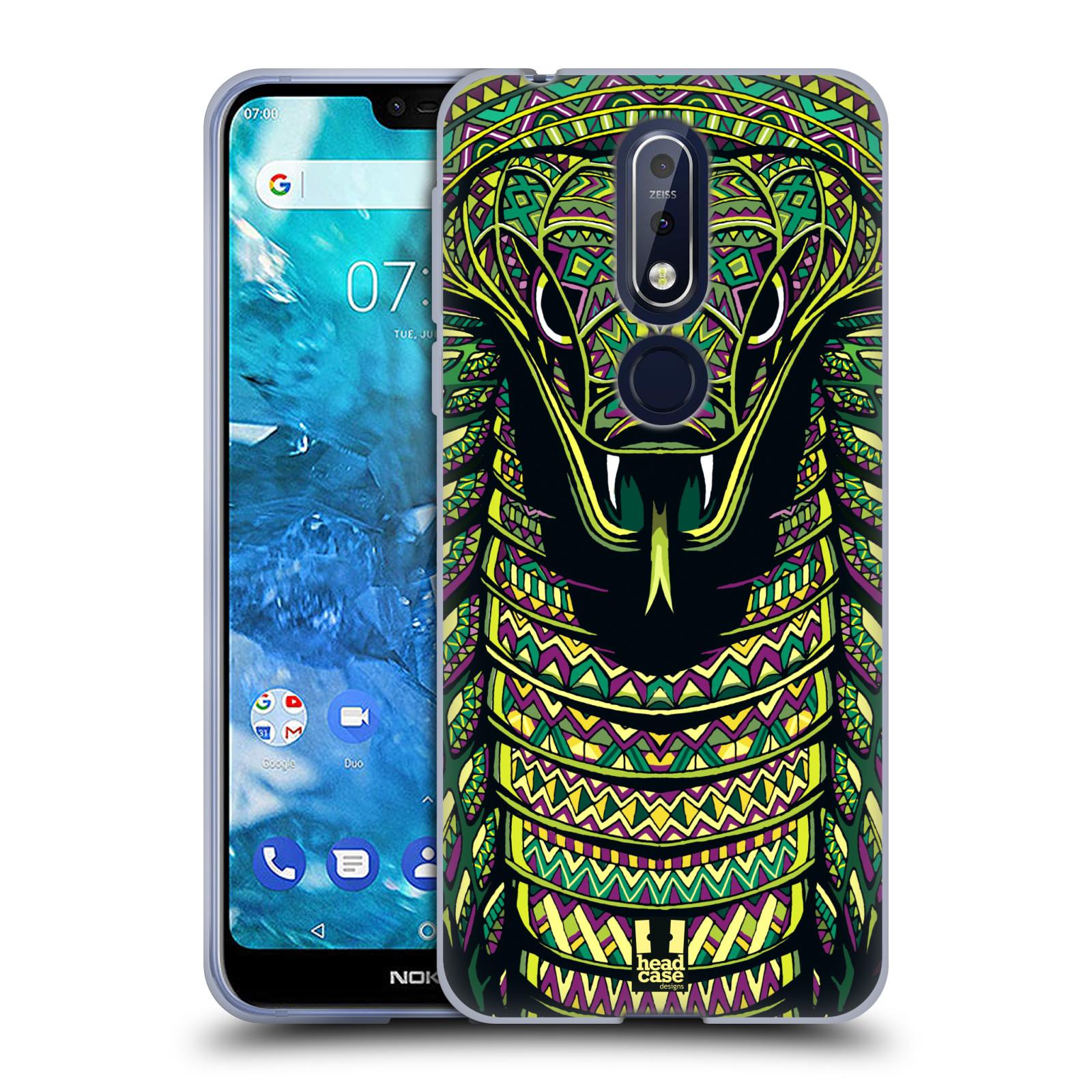 Silikonové pouzdro na mobil Nokia 7.1 - Head Case - AZTEC HAD