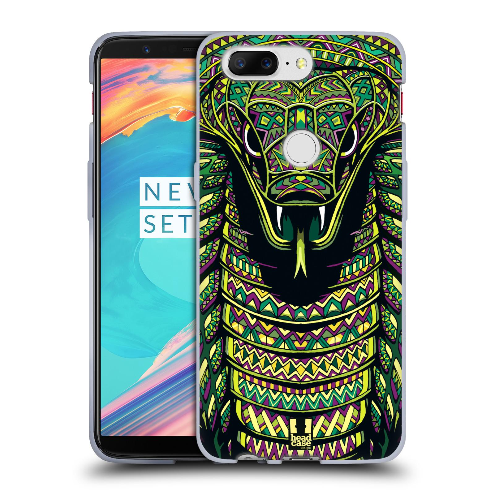 Silikonové pouzdro na mobil OnePlus 5T - Head Case - AZTEC HAD