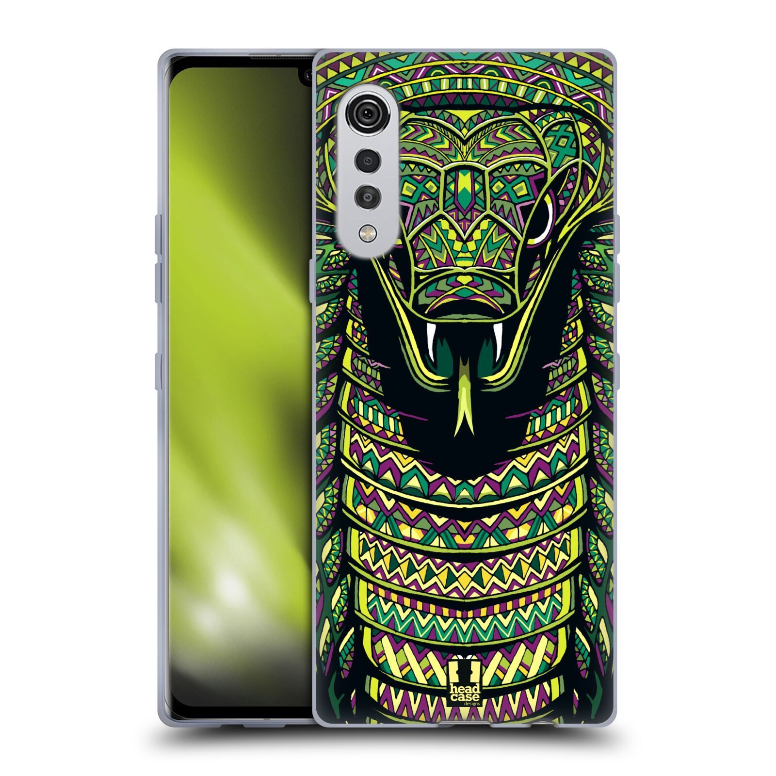 Silikonové pouzdro na mobil LG Velvet - Head Case - AZTEC HAD