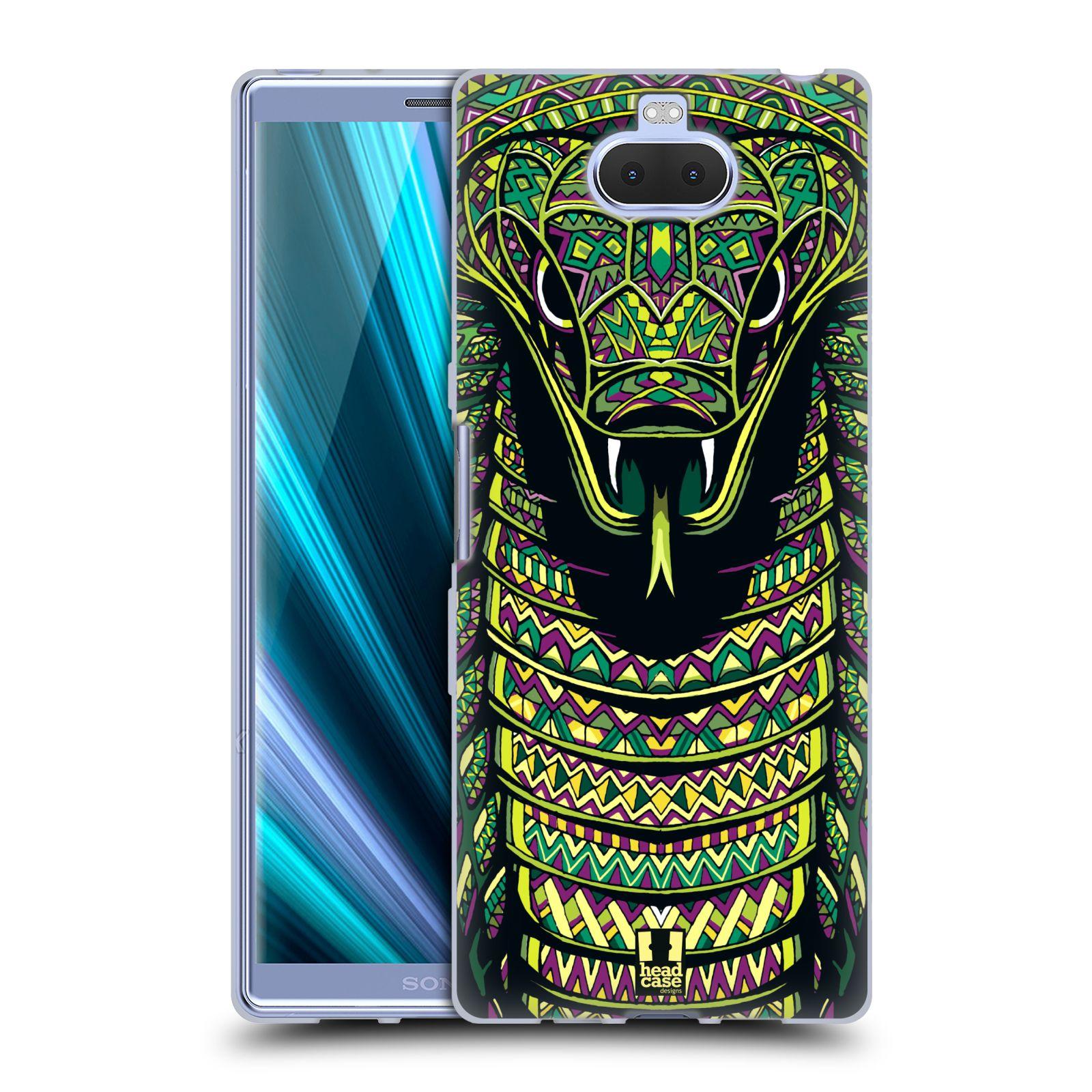 Silikonové pouzdro na mobil Sony Xperia 10 Plus - Head Case - AZTEC HAD