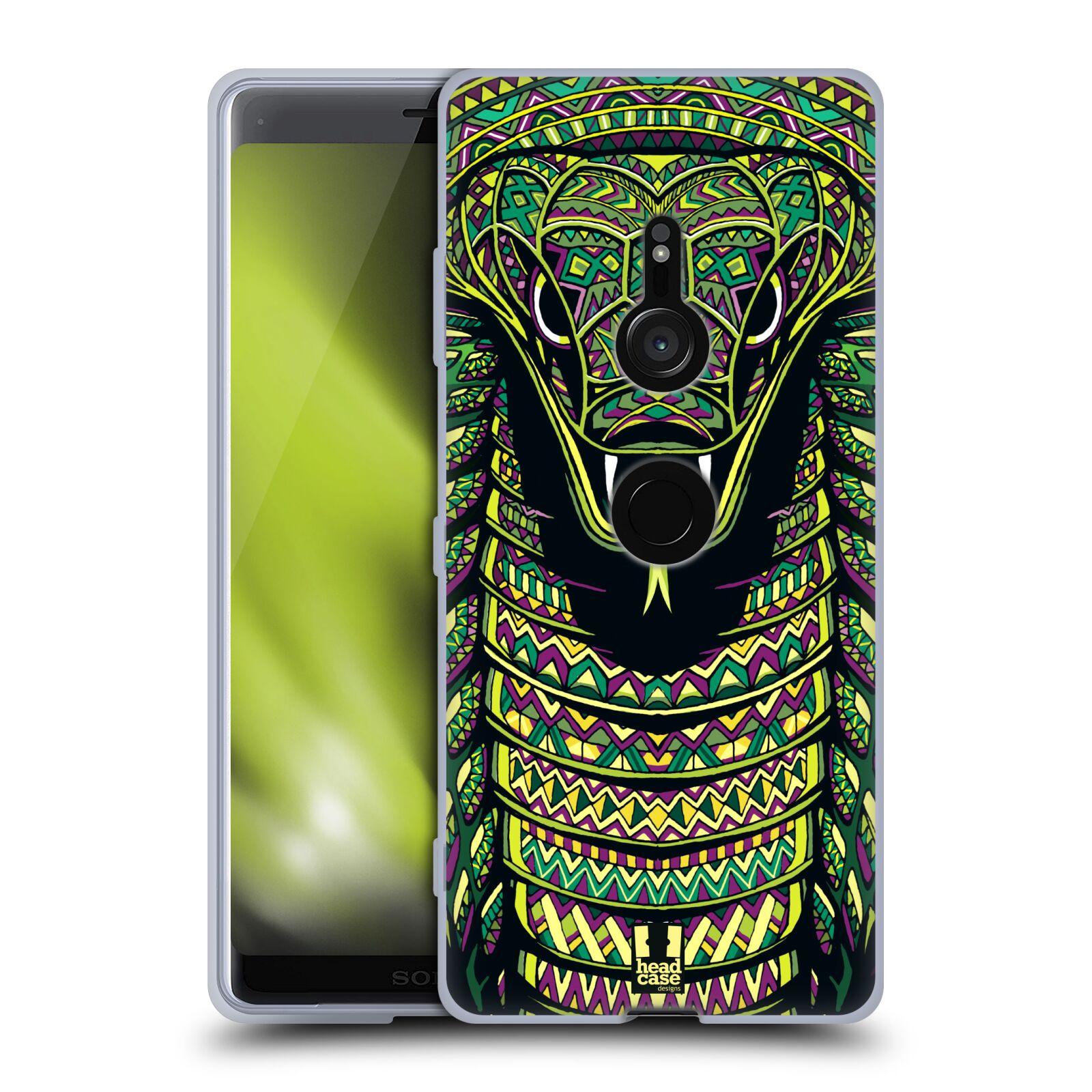Silikonové pouzdro na mobil Sony Xperia XZ3 - Head Case - AZTEC HAD