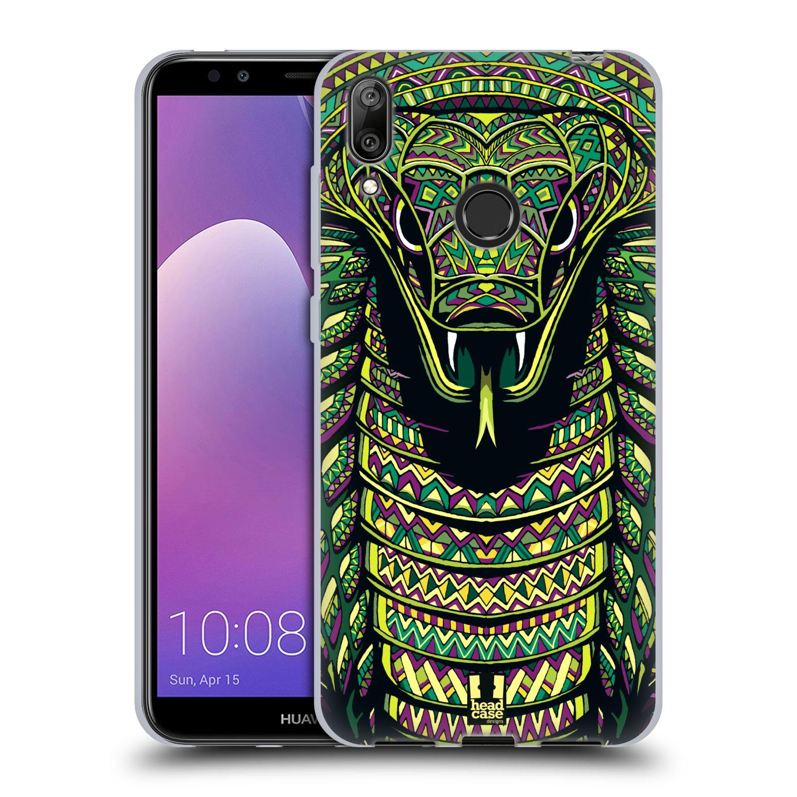 Silikonové pouzdro na mobil Huawei Y7 (2019) - Head Case - AZTEC HAD