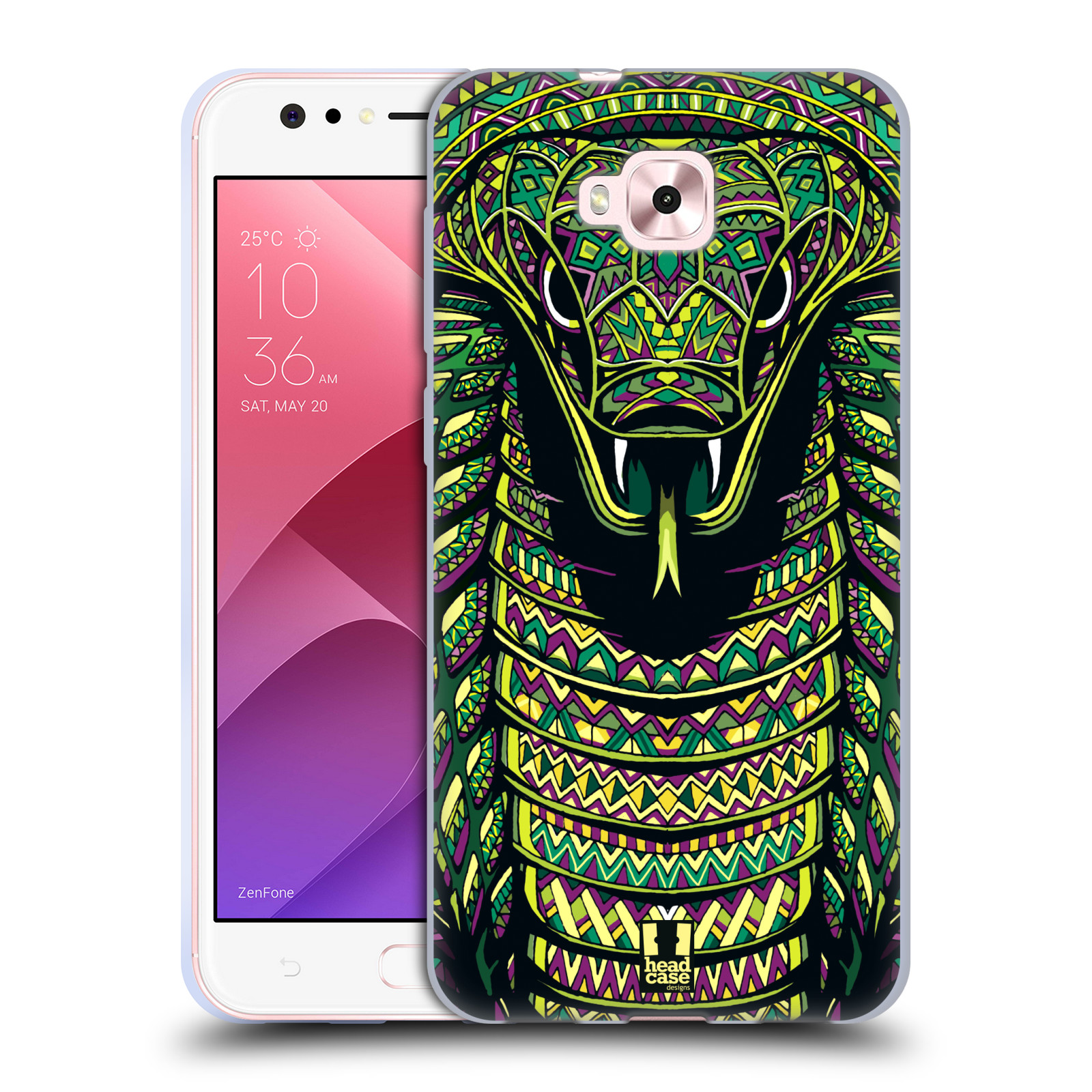 Silikonové pouzdro na mobil Asus Zenfone 4 Selfie ZD553KL - Head Case - AZTEC HAD