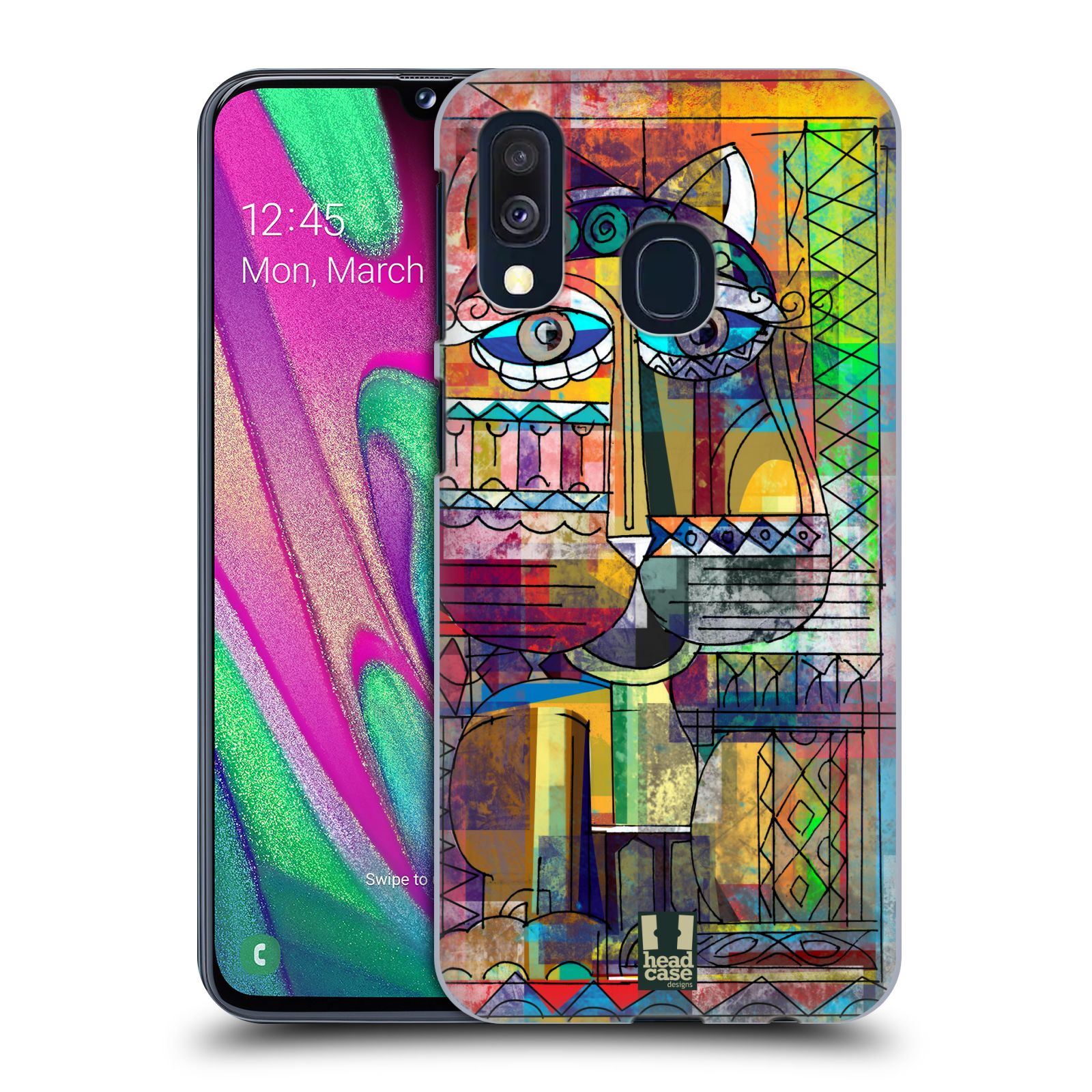 Plastové pouzdro na mobil Samsung Galaxy A40 - Head Case - AZTEC KORAT