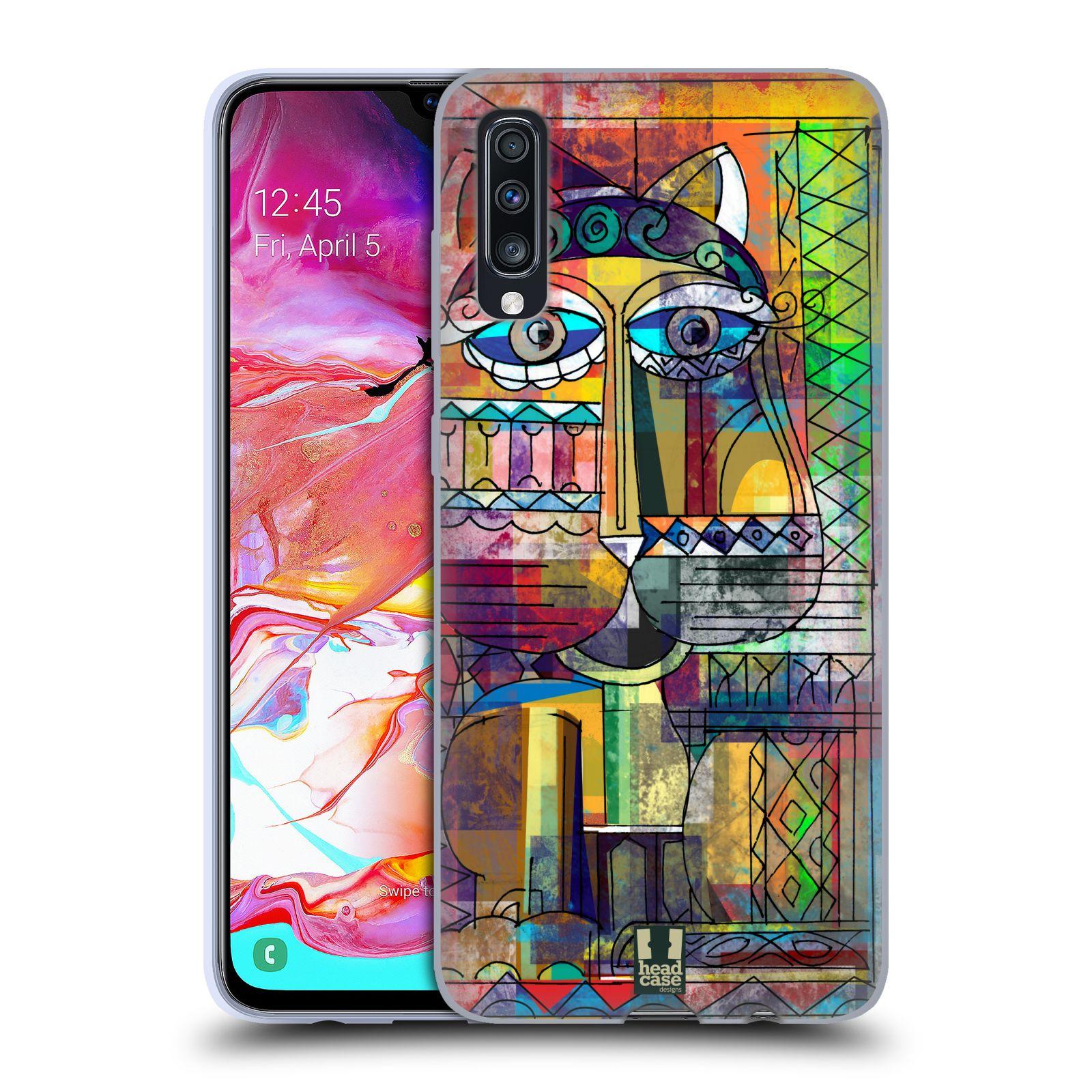 Silikonové pouzdro na mobil Samsung Galaxy A70 - Head Case - AZTEC KORAT