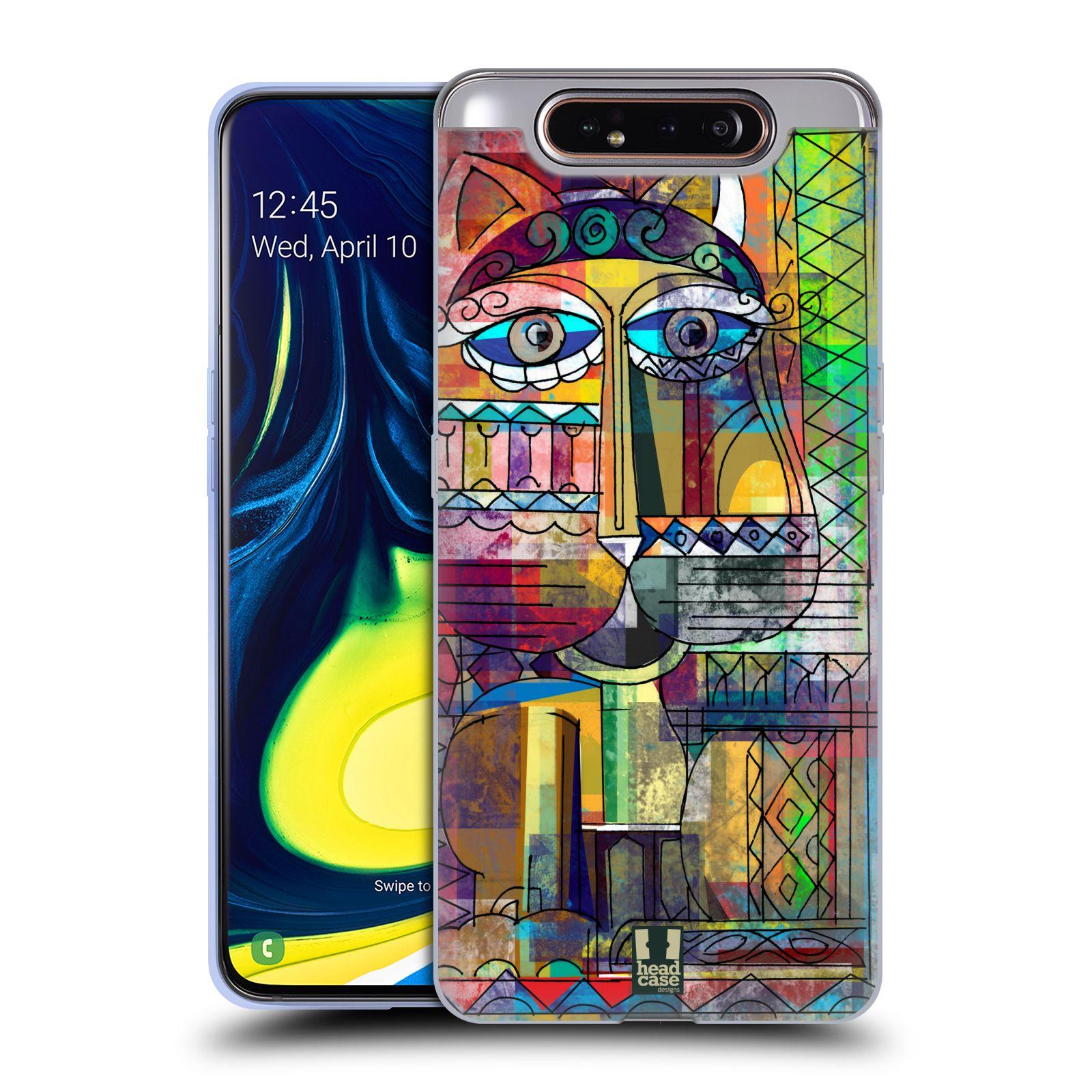 Silikonové pouzdro na mobil Samsung Galaxy A80 - Head Case - AZTEC KORAT