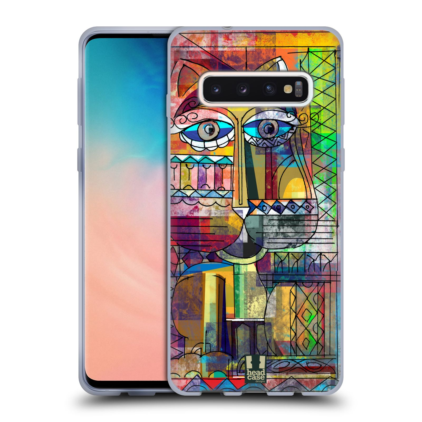 Silikonové pouzdro na mobil Samsung Galaxy S10 - Head Case - AZTEC KORAT