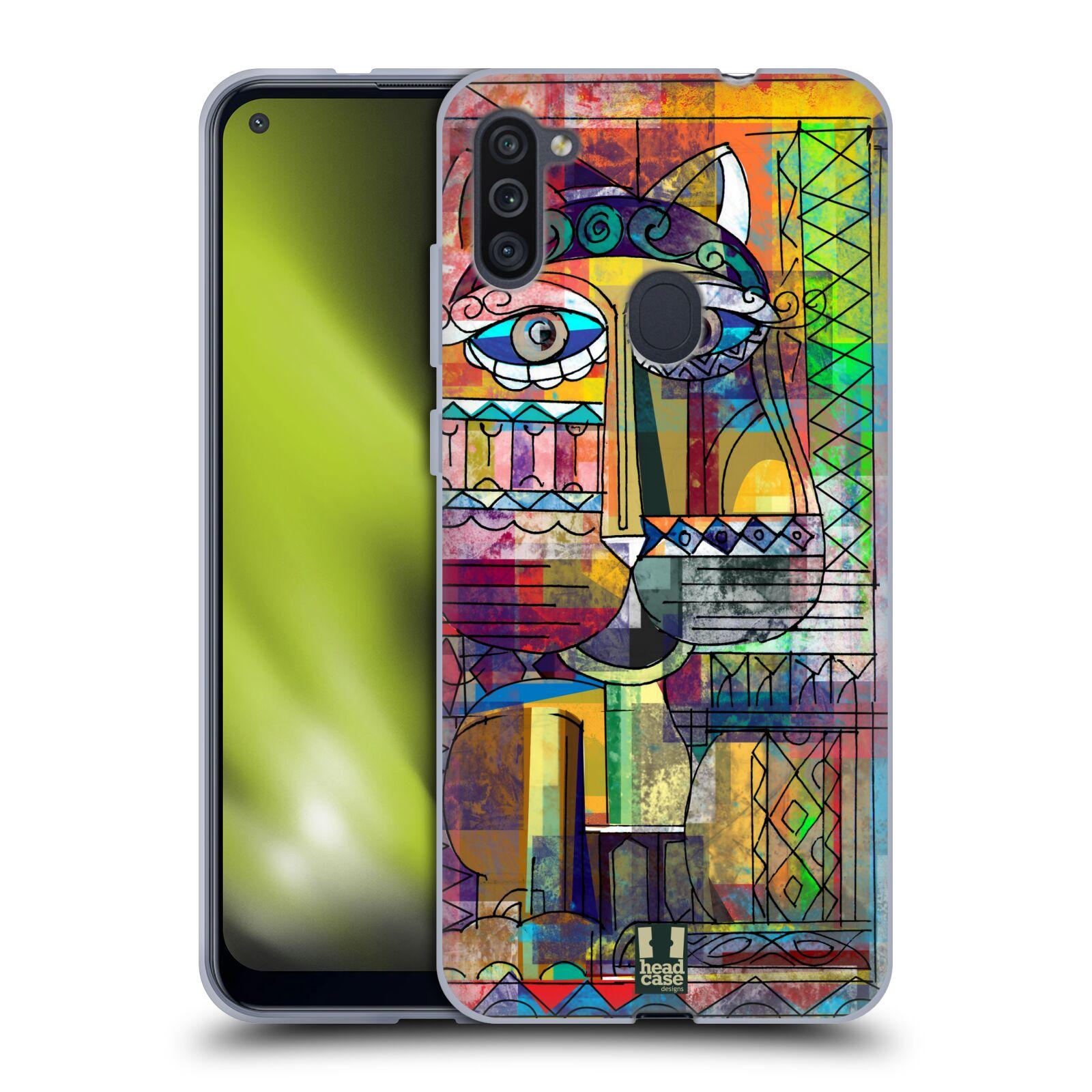 Silikonové pouzdro na mobil Samsung Galaxy M11 - Head Case - AZTEC KORAT