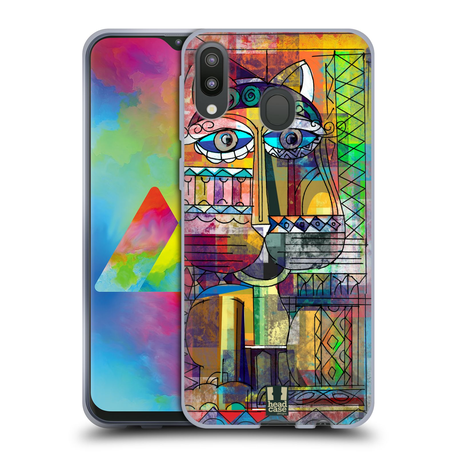 Silikonové pouzdro na mobil Samsung Galaxy M20 - Head Case - AZTEC KORAT