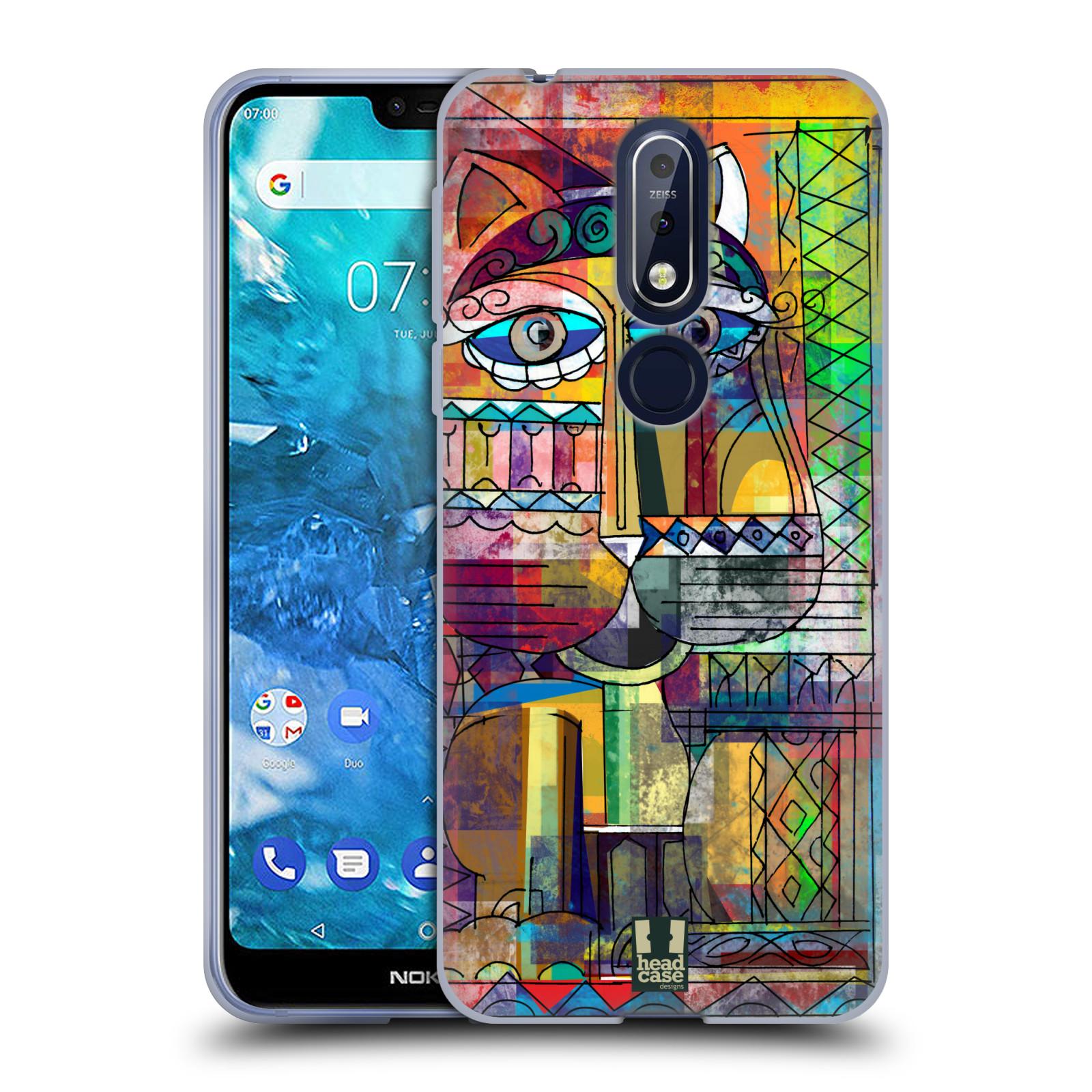 Silikonové pouzdro na mobil Nokia 7.1 - Head Case - AZTEC KORAT