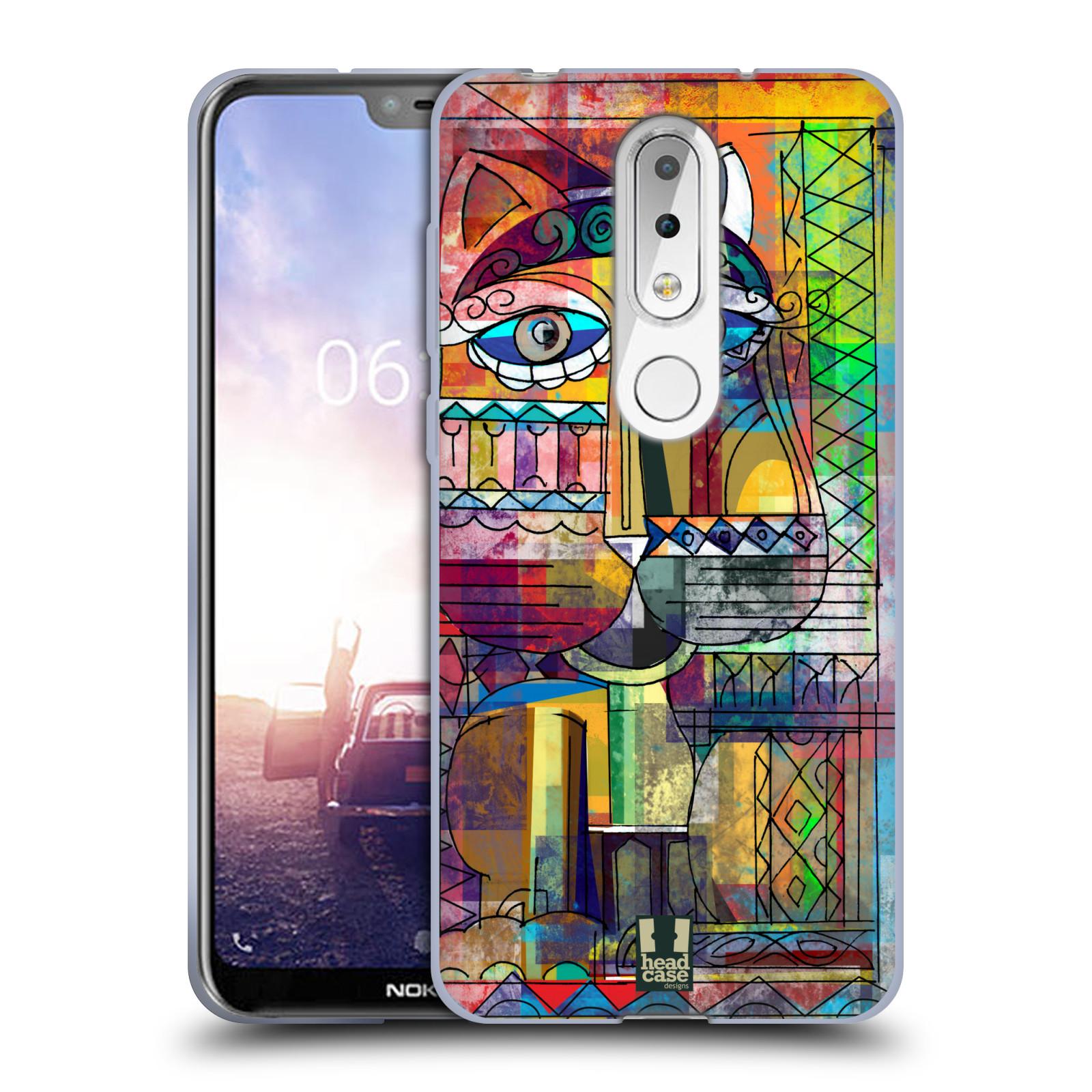 Silikonové pouzdro na mobil Nokia 6.1 Plus - Head Case - AZTEC KORAT
