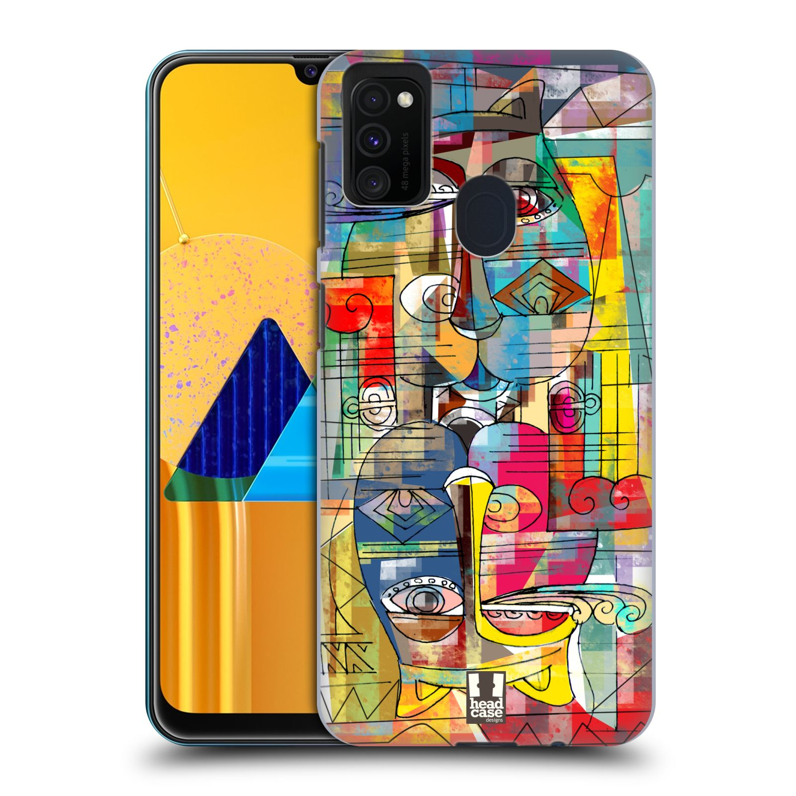 Plastové pouzdro na mobil Samsung Galaxy M21 - Head Case - AZTEC MANX