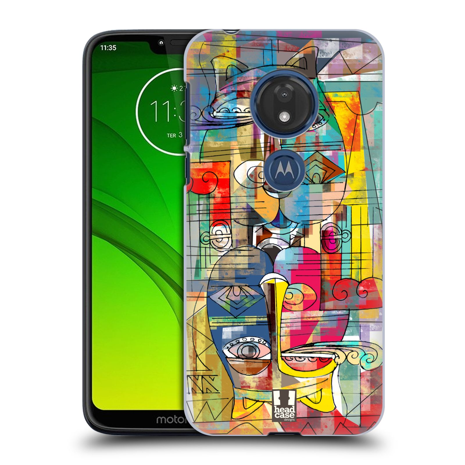 Plastové pouzdro na mobil Motorola Moto G7 Play - Head Case - AZTEC MANX