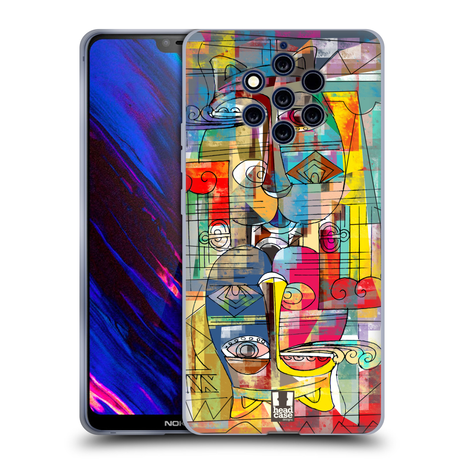 Silikonové pouzdro na mobil Nokia 9 PureView - Head Case - AZTEC MANX