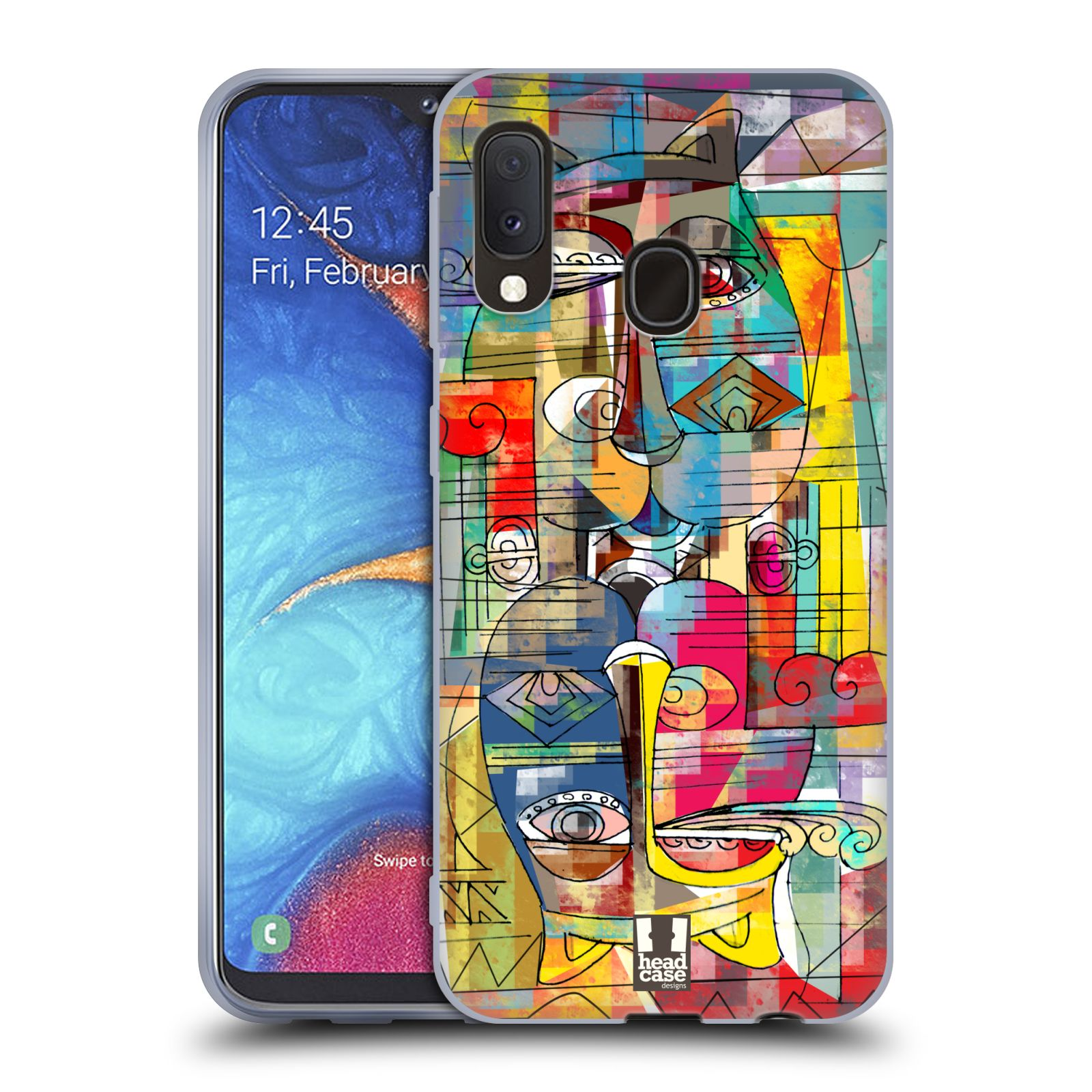 Silikonové pouzdro na mobil Samsung Galaxy A20e - Head Case - AZTEC MANX