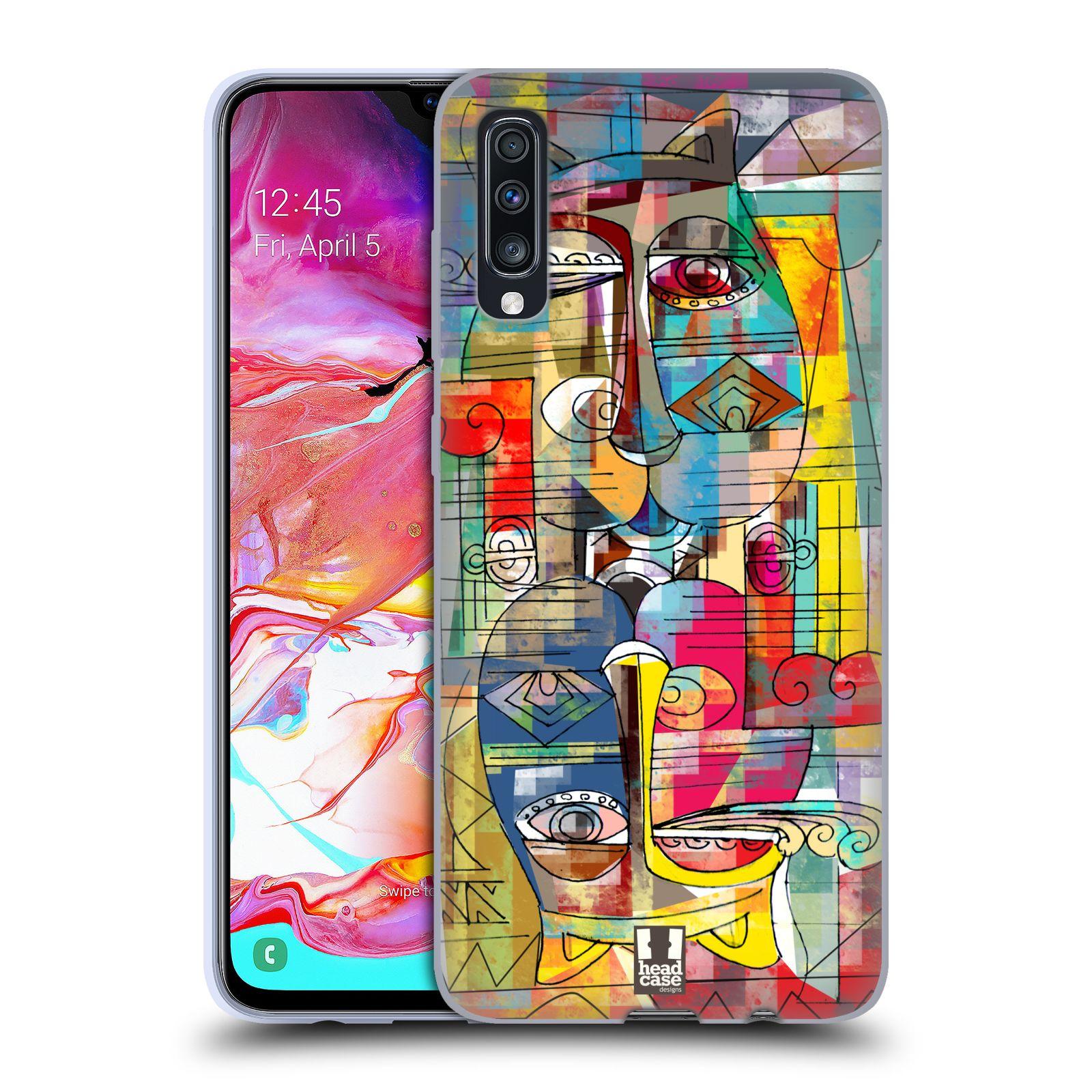 Silikonové pouzdro na mobil Samsung Galaxy A70 - Head Case - AZTEC MANX