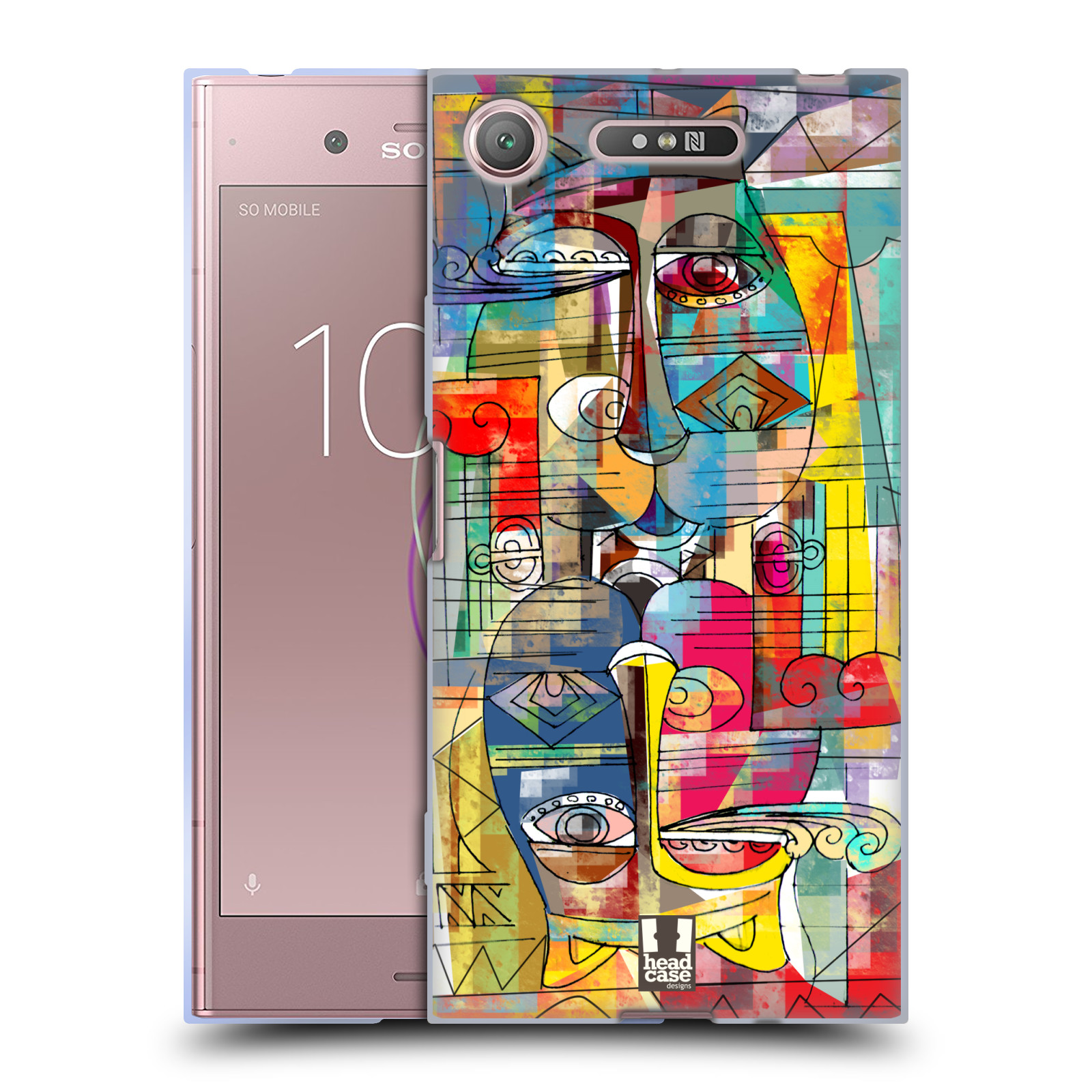 Silikonové pouzdro na mobil Sony Xperia XZ1 - Head Case - AZTEC MANX