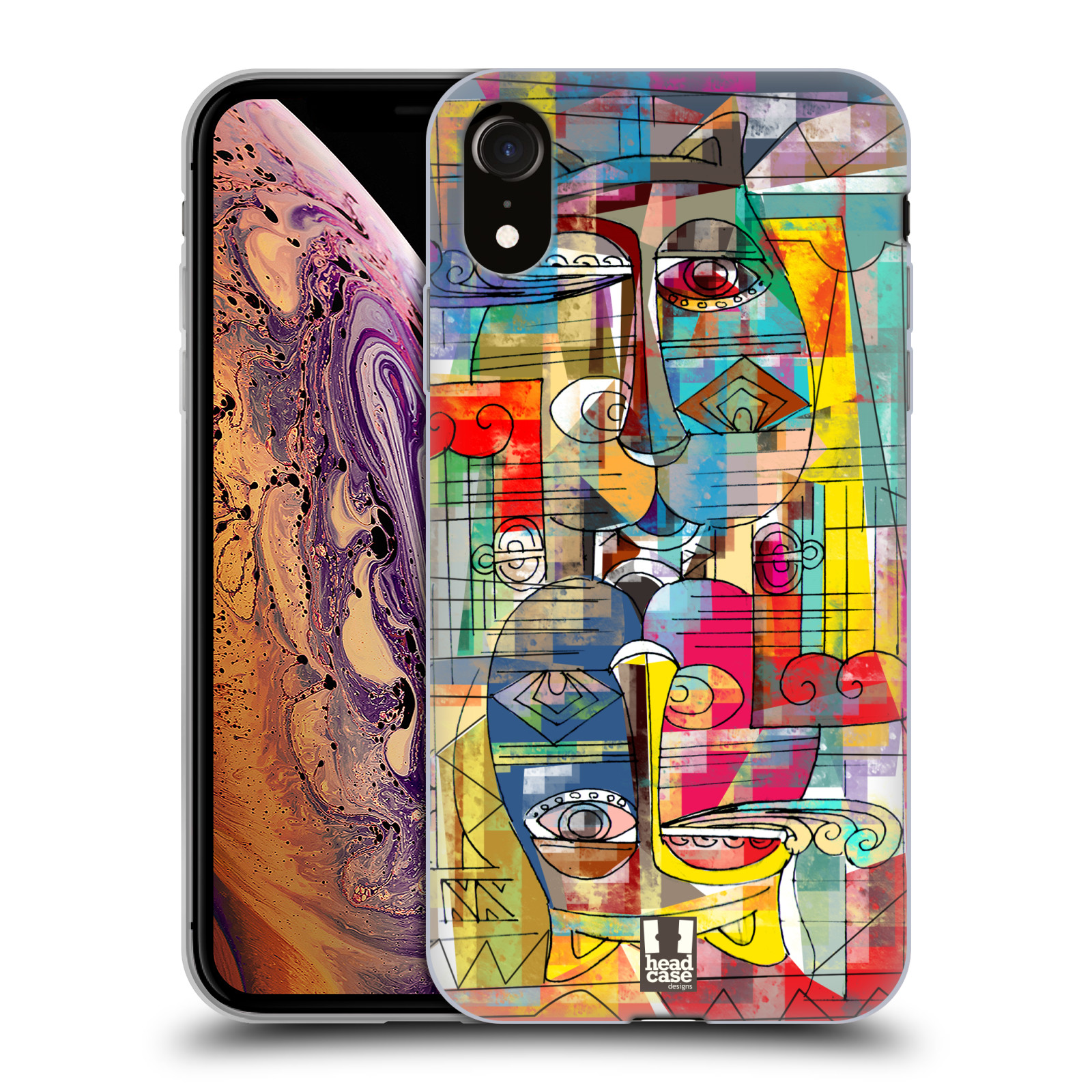 Silikonové pouzdro na mobil Apple iPhone XR - Head Case - AZTEC MANX