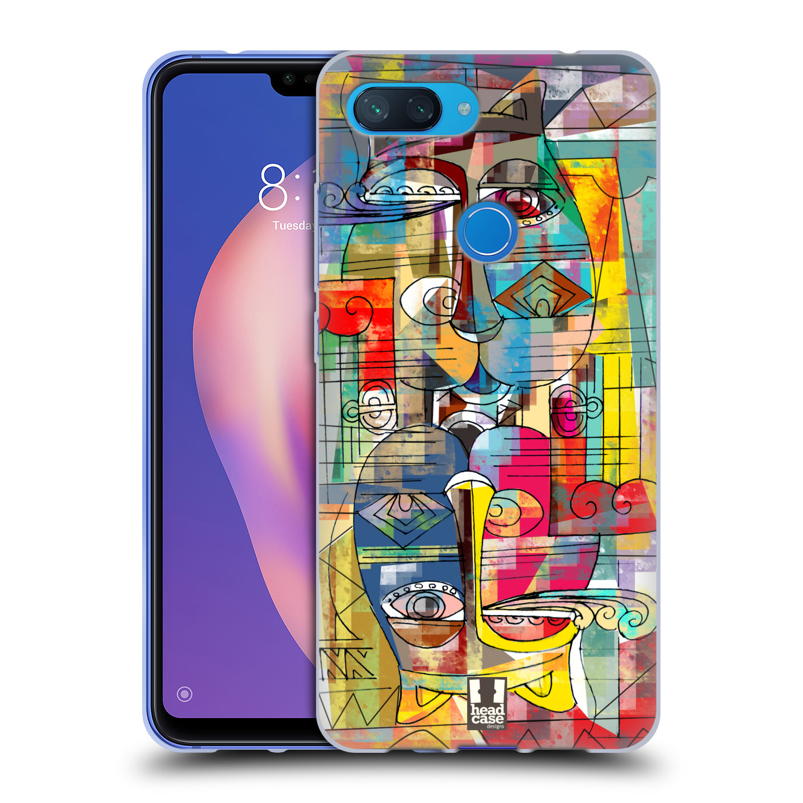 Silikonové pouzdro na mobil Xiaomi Mi 8 Lite - Head Case - AZTEC MANX