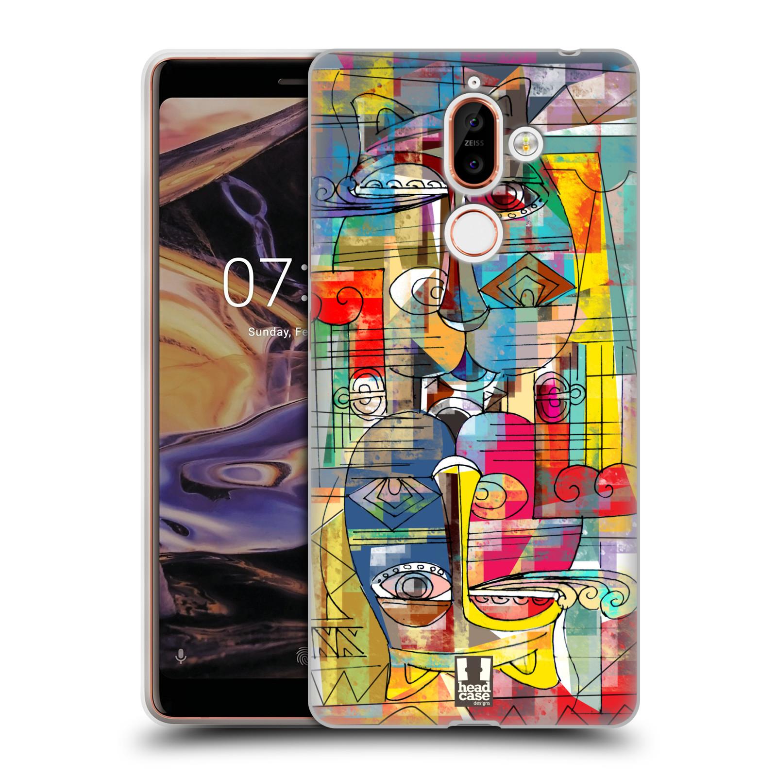 Silikonové pouzdro na mobil Nokia 7 Plus - Head Case - AZTEC MANX
