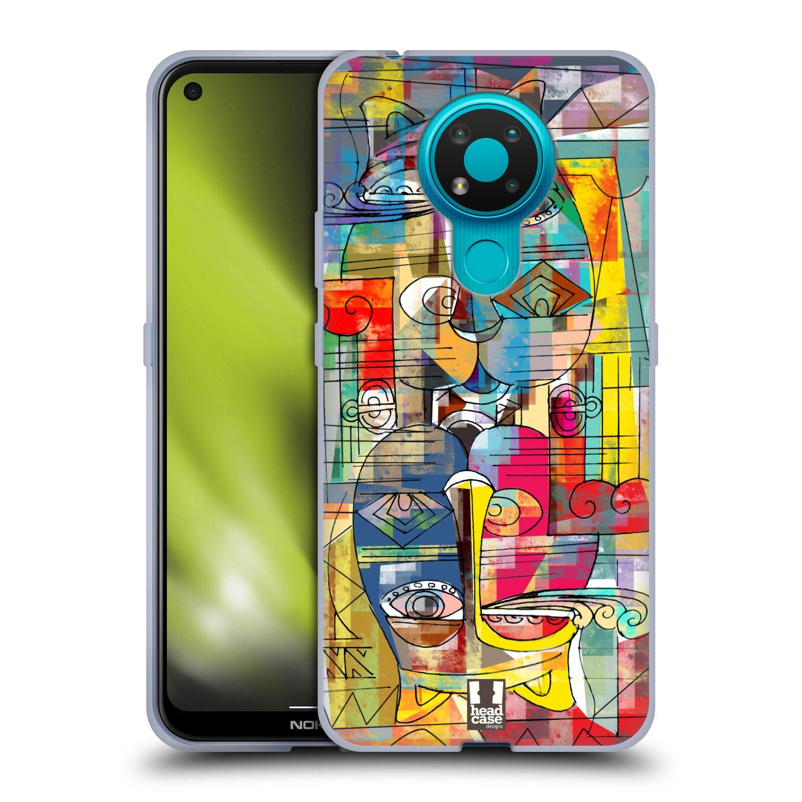 Silikonové pouzdro na mobil Nokia 3.4 - Head Case - AZTEC MANX