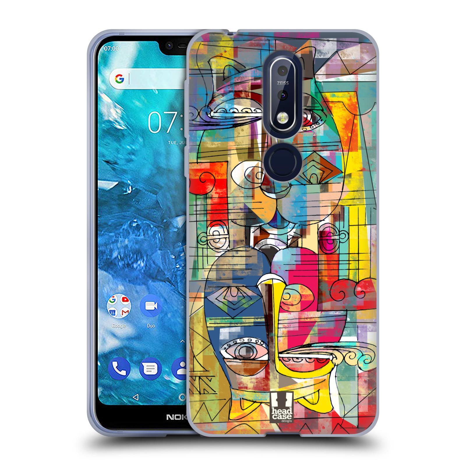 Silikonové pouzdro na mobil Nokia 7.1 - Head Case - AZTEC MANX