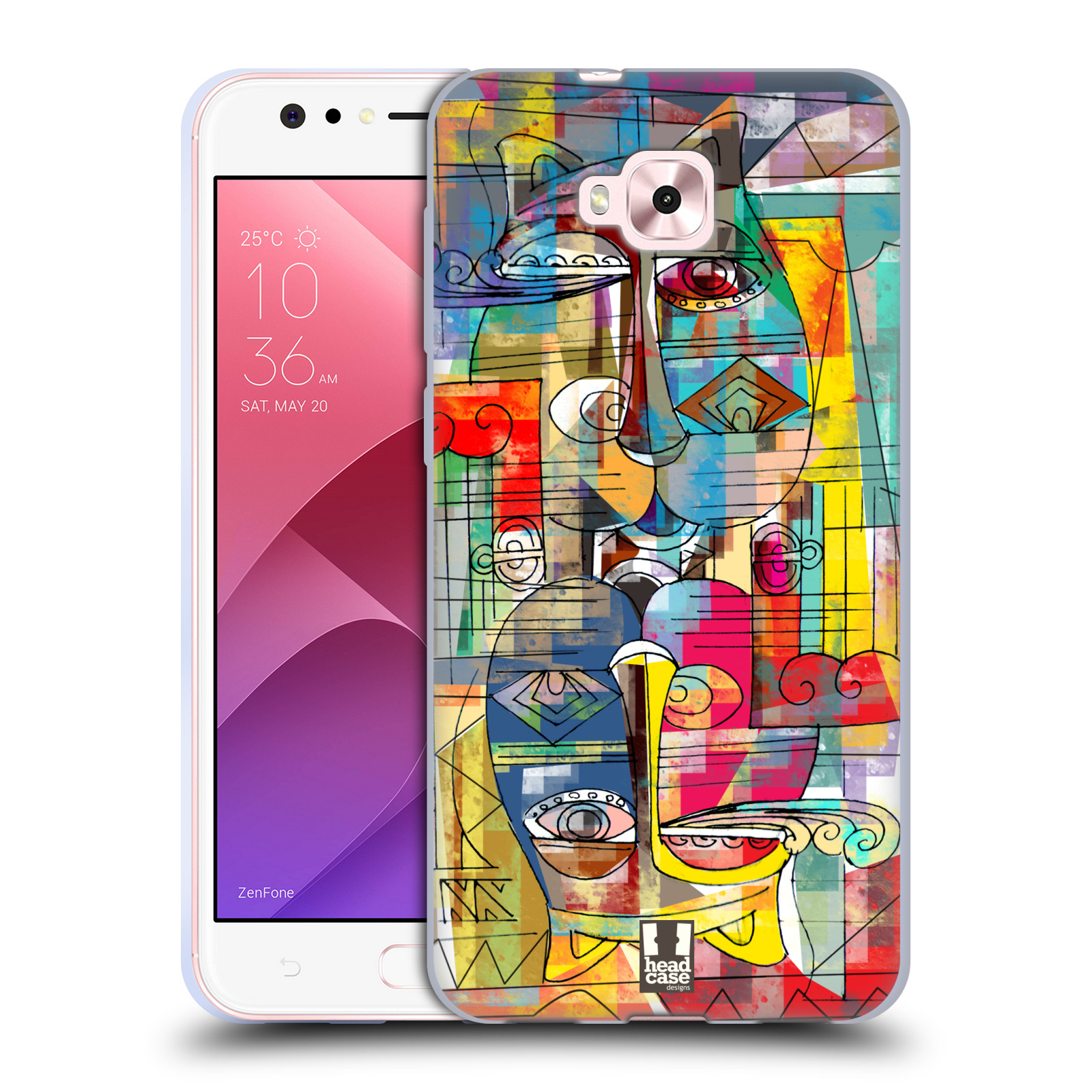 Silikonové pouzdro na mobil Asus Zenfone 4 Selfie ZD553KL - Head Case - AZTEC MANX