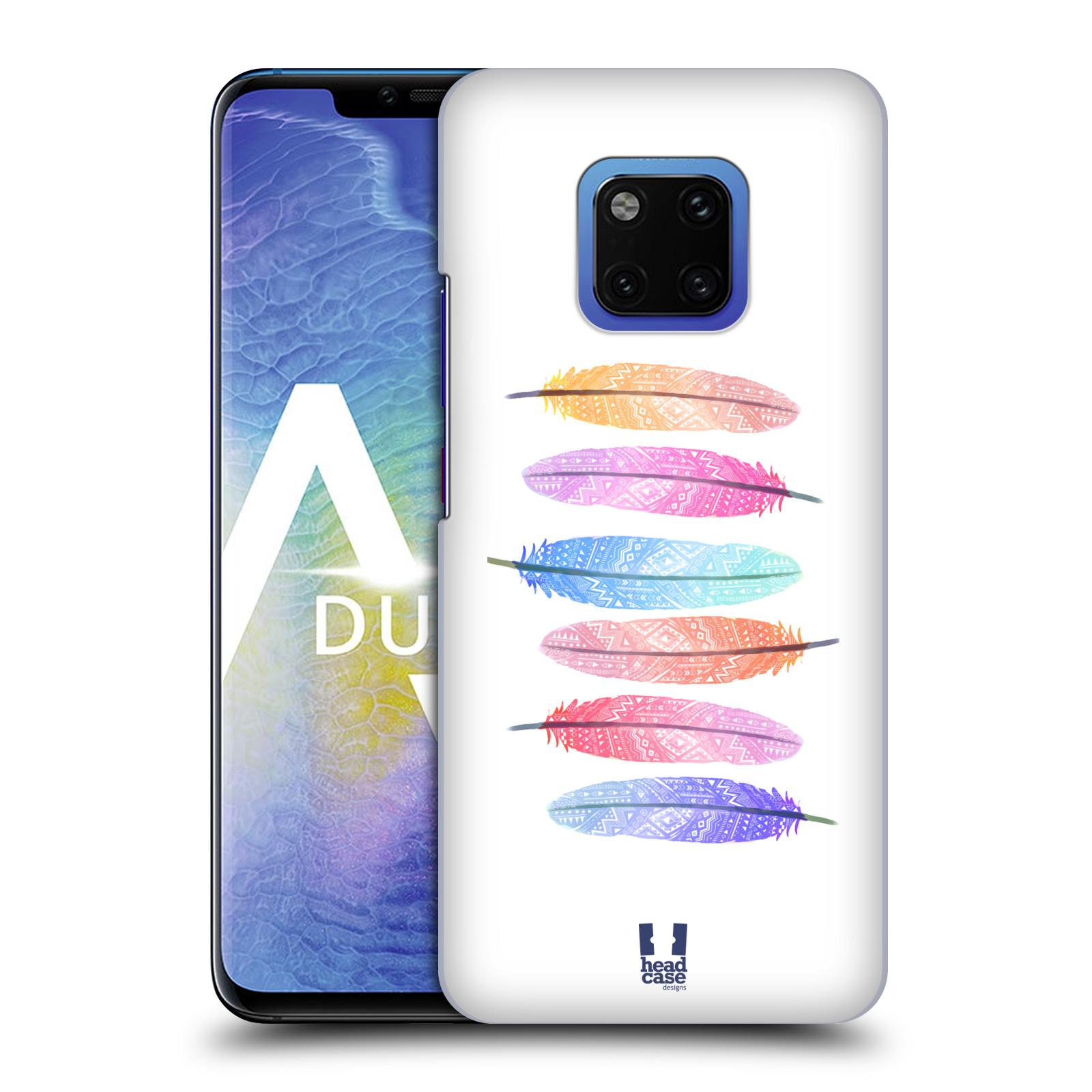 Plastové pouzdro na mobil Huawei Mate 20 Pro - Head Case - AZTEC PÍRKA SILUETY