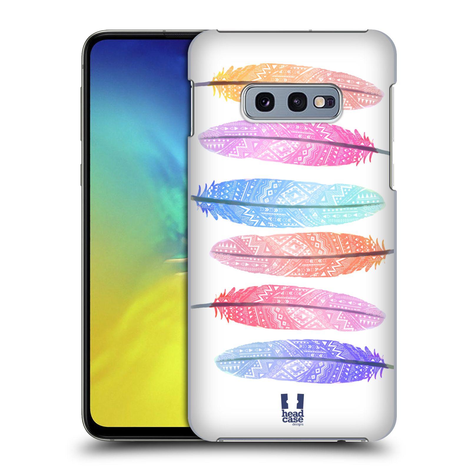 Plastové pouzdro na mobil Samsung Galaxy S10e - Head Case - AZTEC PÍRKA SILUETY