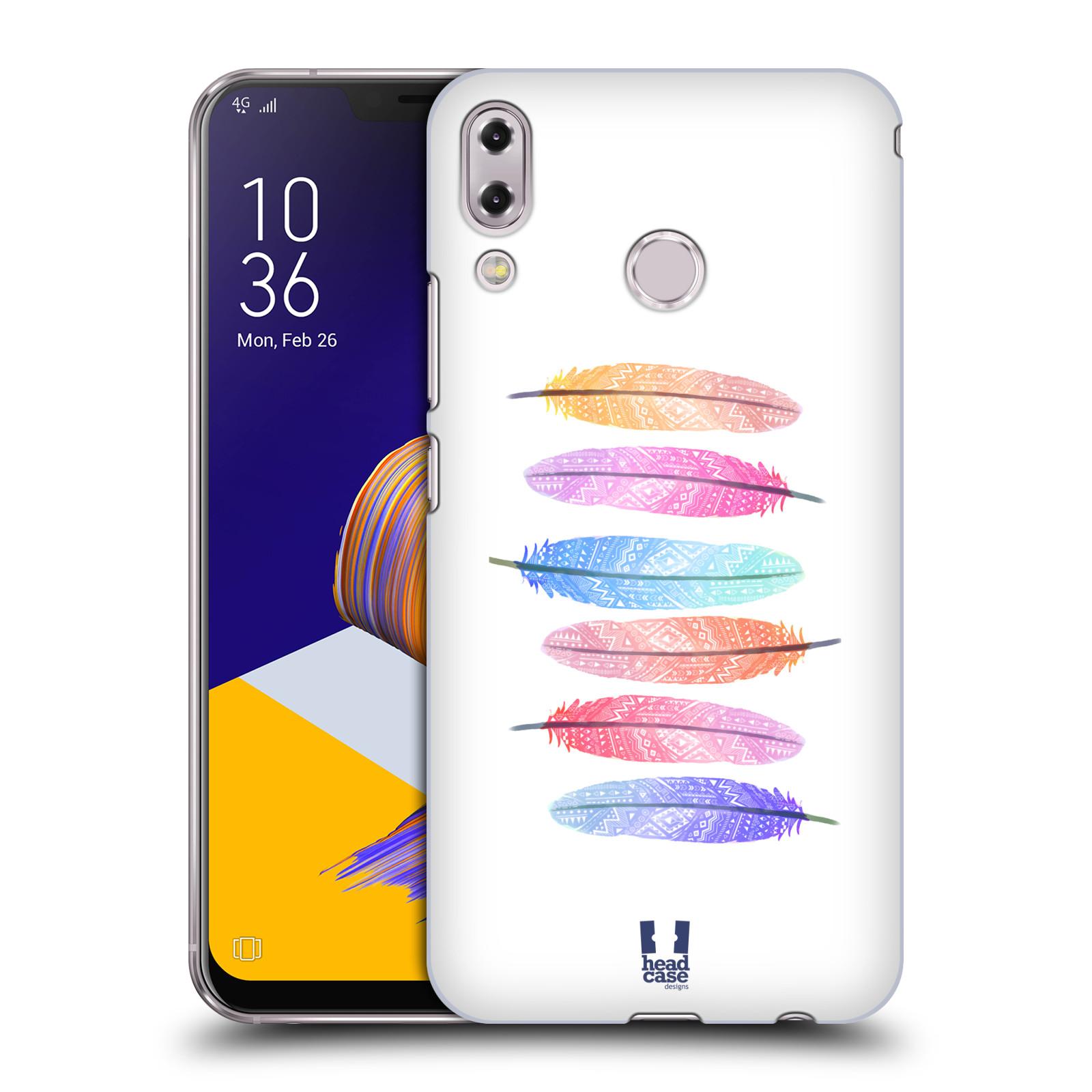 Plastové pouzdro na mobil Asus Zenfone 5z ZS620KL - Head Case - AZTEC PÍRKA SILUETY