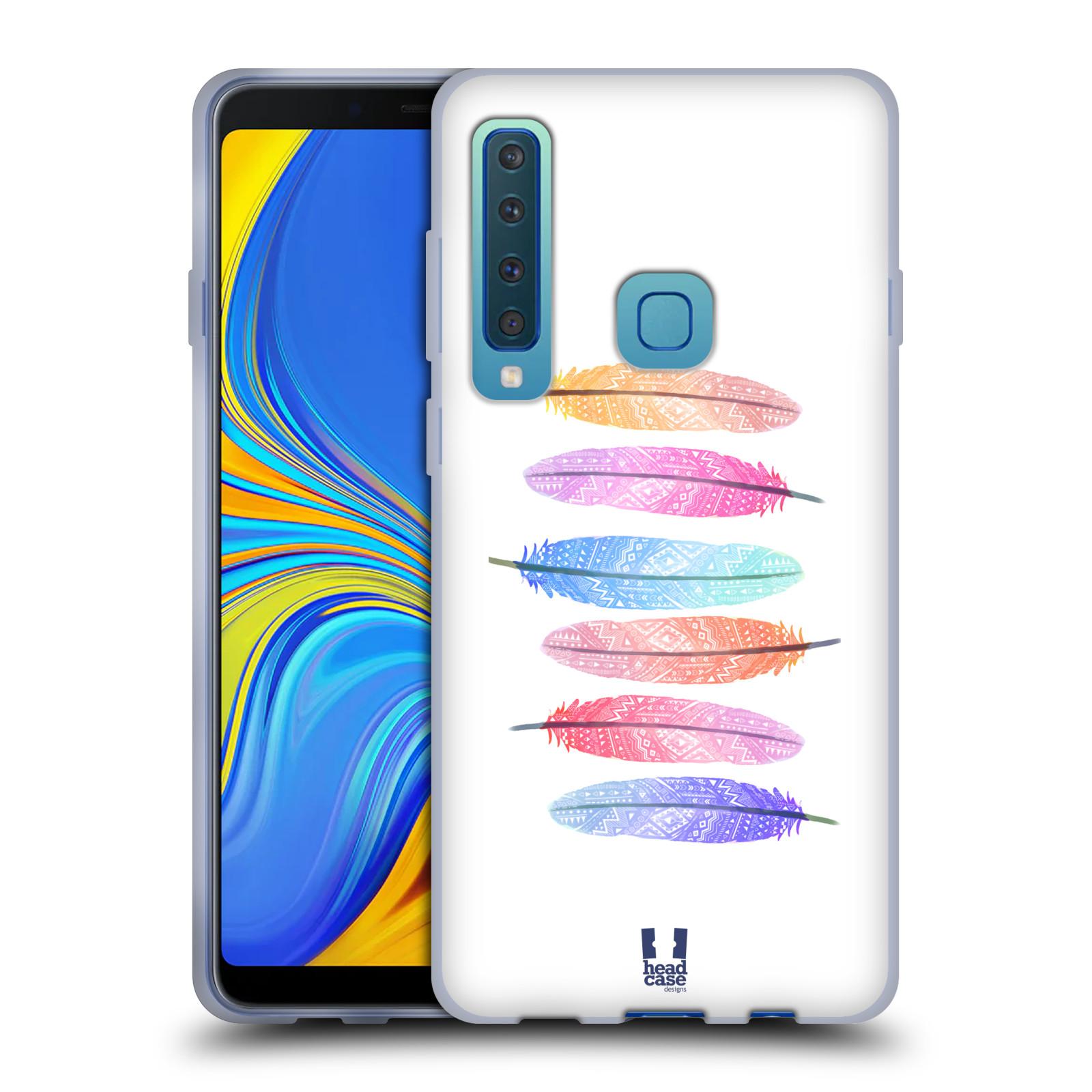 Silikonové pouzdro na mobil Samsung Galaxy A9 (2018) - Head Case - AZTEC PÍRKA SILUETY
