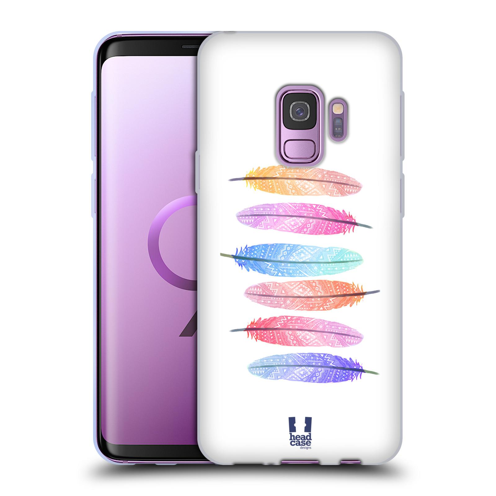 Silikonové pouzdro na mobil Samsung Galaxy S9 - Head Case - AZTEC PÍRKA SILUETY