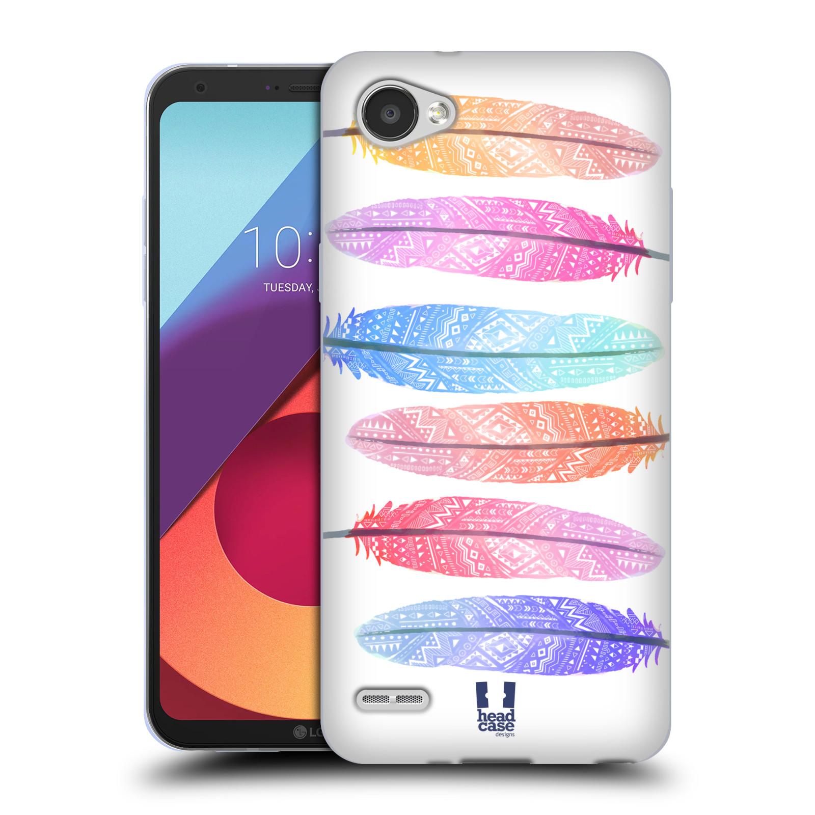 Silikonové pouzdro na mobil LG Q6 - Head Case - AZTEC PÍRKA SILUETY