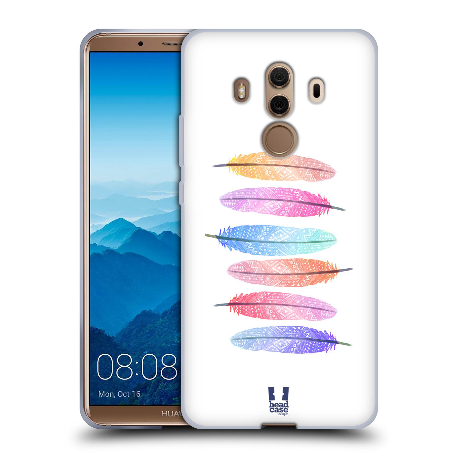 Silikonové pouzdro na mobil Huawei Mate 10 Pro - Head Case - AZTEC PÍRKA SILUETY