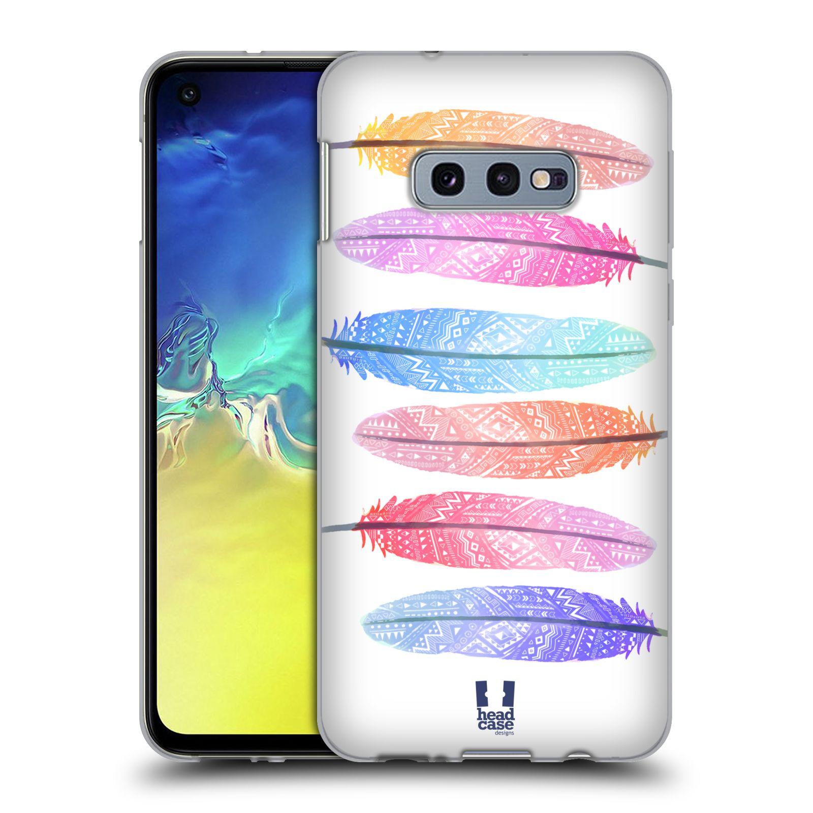 Silikonové pouzdro na mobil Samsung Galaxy S10e - Head Case - AZTEC PÍRKA SILUETY