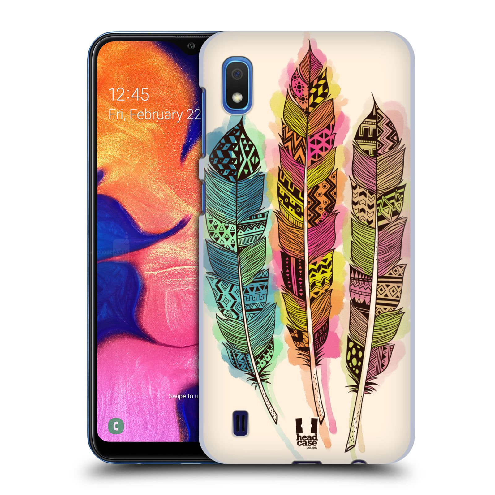 Plastové pouzdro na mobil Samsung Galaxy A10 - Head Case - AZTEC PÍRKA SPLASH