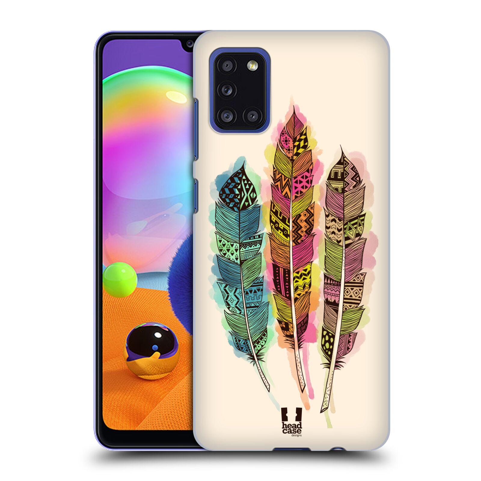 Plastové pouzdro na mobil Samsung Galaxy A31 - Head Case - AZTEC PÍRKA SPLASH