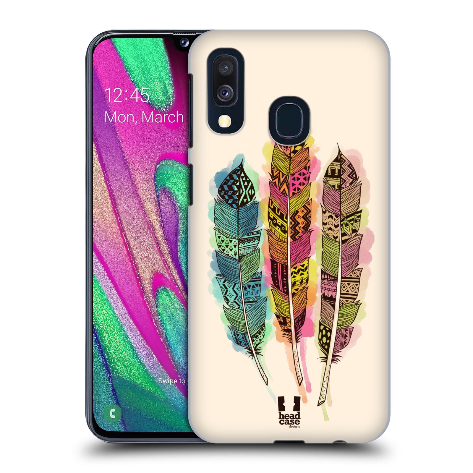 Plastové pouzdro na mobil Samsung Galaxy A40 - Head Case - AZTEC PÍRKA SPLASH