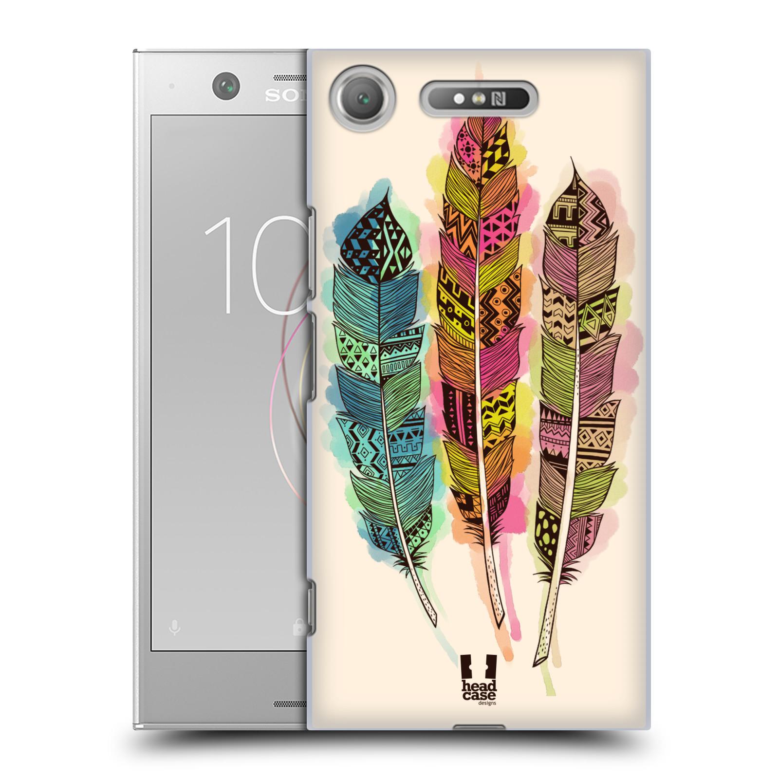 Plastové pouzdro na mobil Sony Xperia XZ1 - Head Case - AZTEC PÍRKA SPLASH