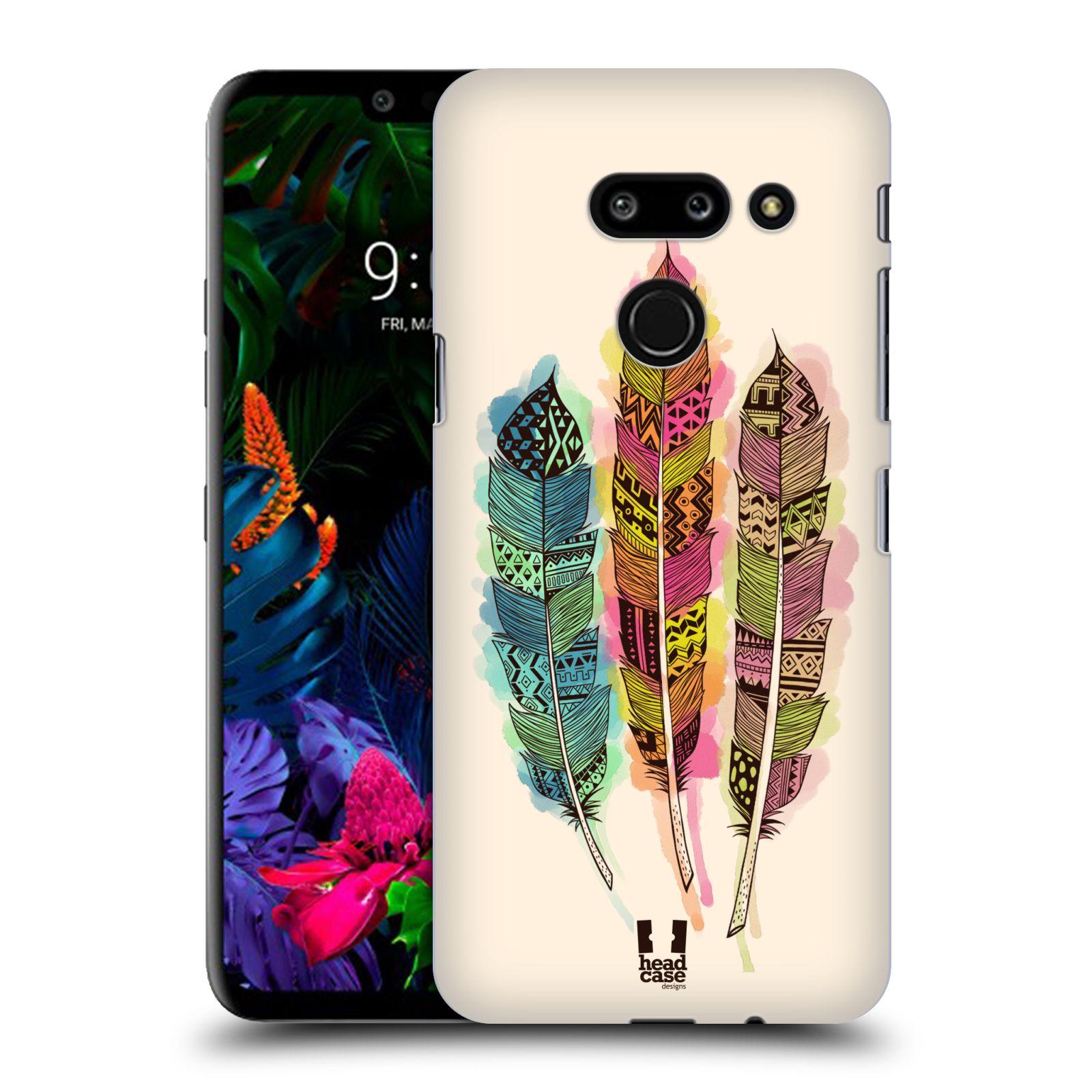 Plastové pouzdro na mobil LG G8 ThinQ - Head Case - AZTEC PÍRKA SPLASH