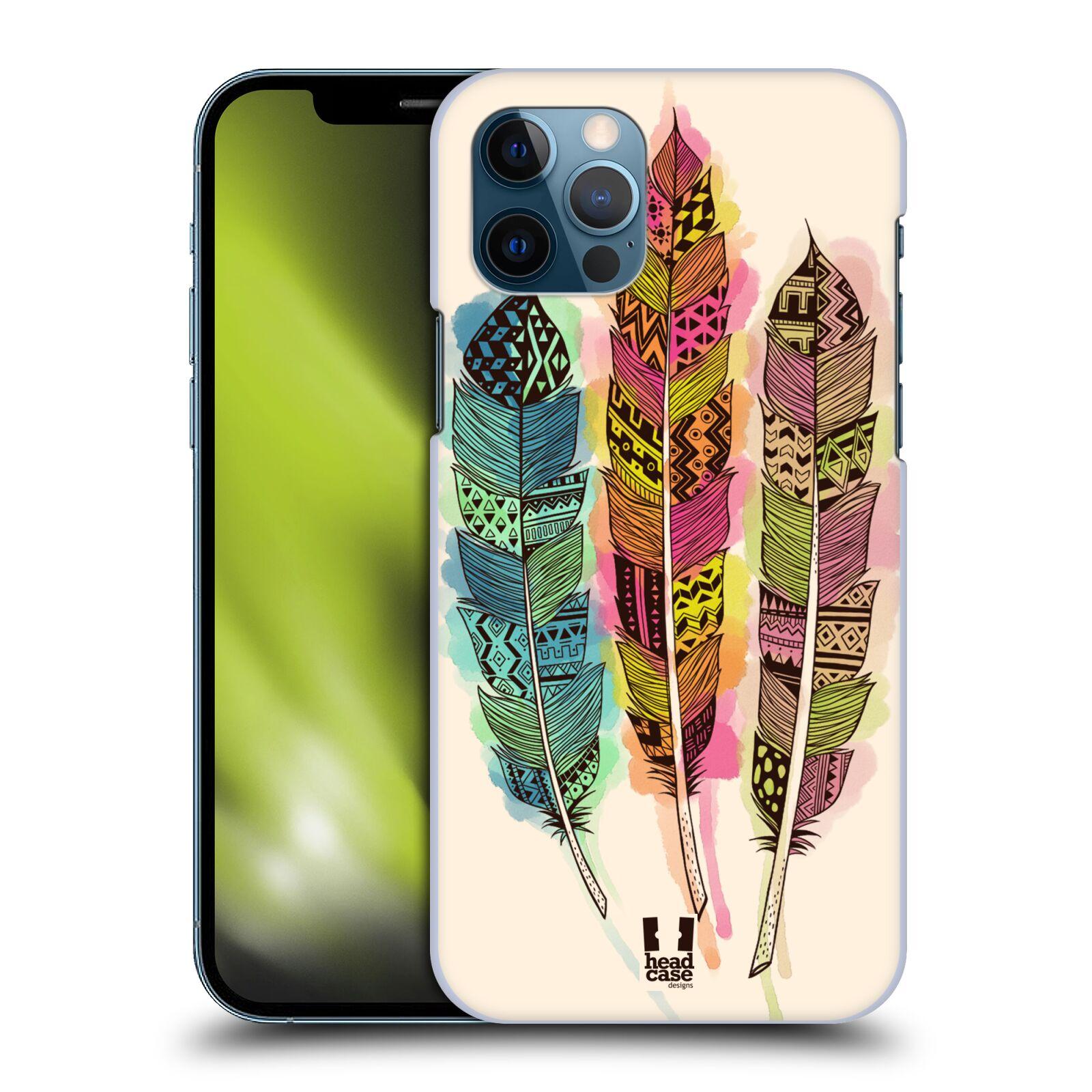 Plastové pouzdro na mobil Apple iPhone 12 / 12 Pro - Head Case - AZTEC PÍRKA SPLASH