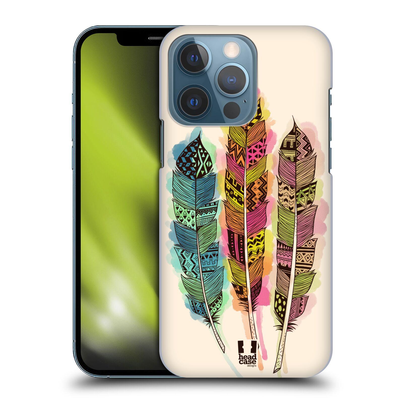 Plastové pouzdro na mobil Apple iPhone 13 Pro - Head Case - AZTEC PÍRKA SPLASH