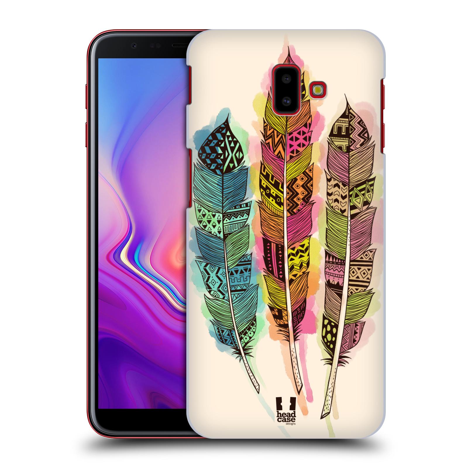 Plastové pouzdro na mobil Samsung Galaxy J6 Plus - Head Case - AZTEC PÍRKA SPLASH