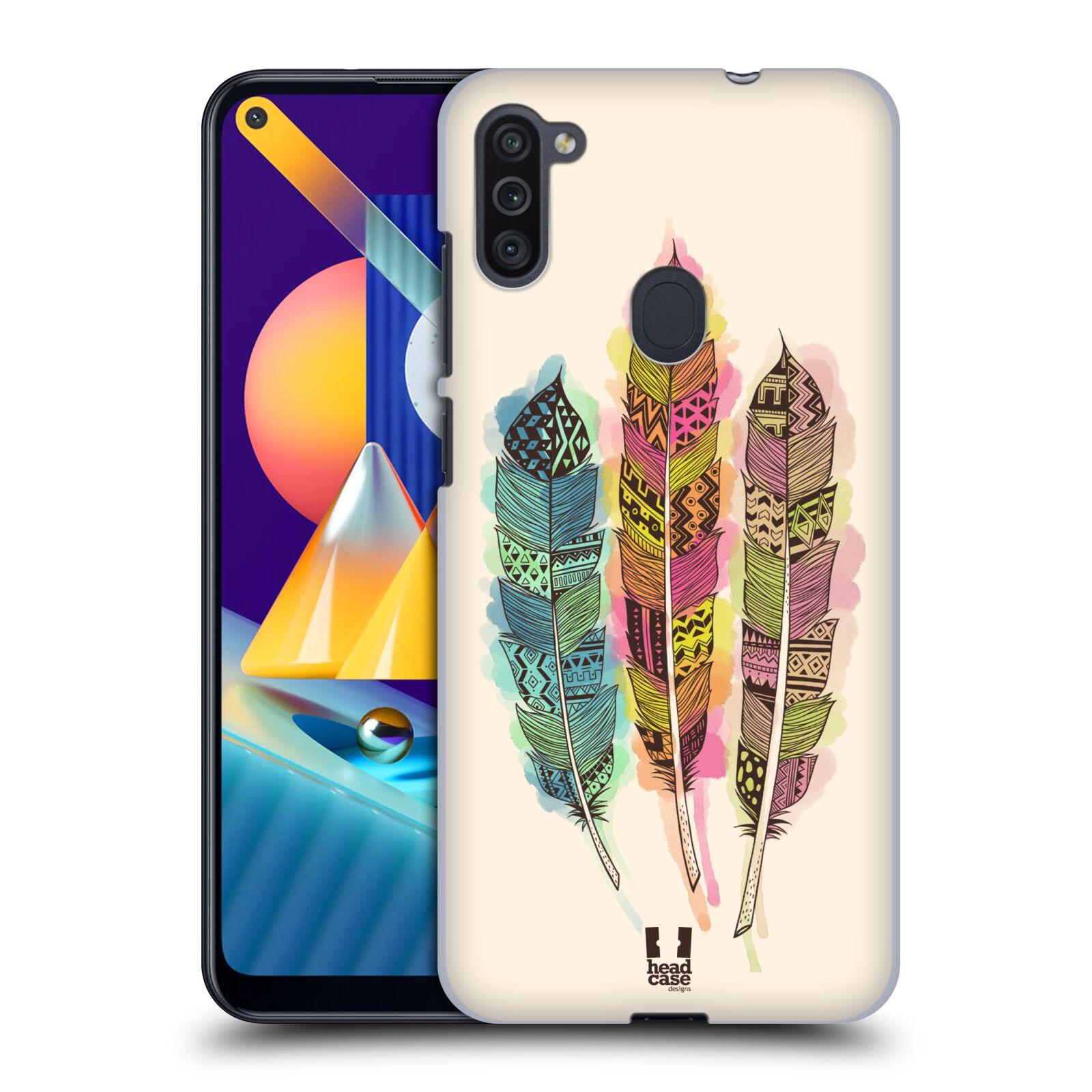Plastové pouzdro na mobil Samsung Galaxy M11 - Head Case - AZTEC PÍRKA SPLASH